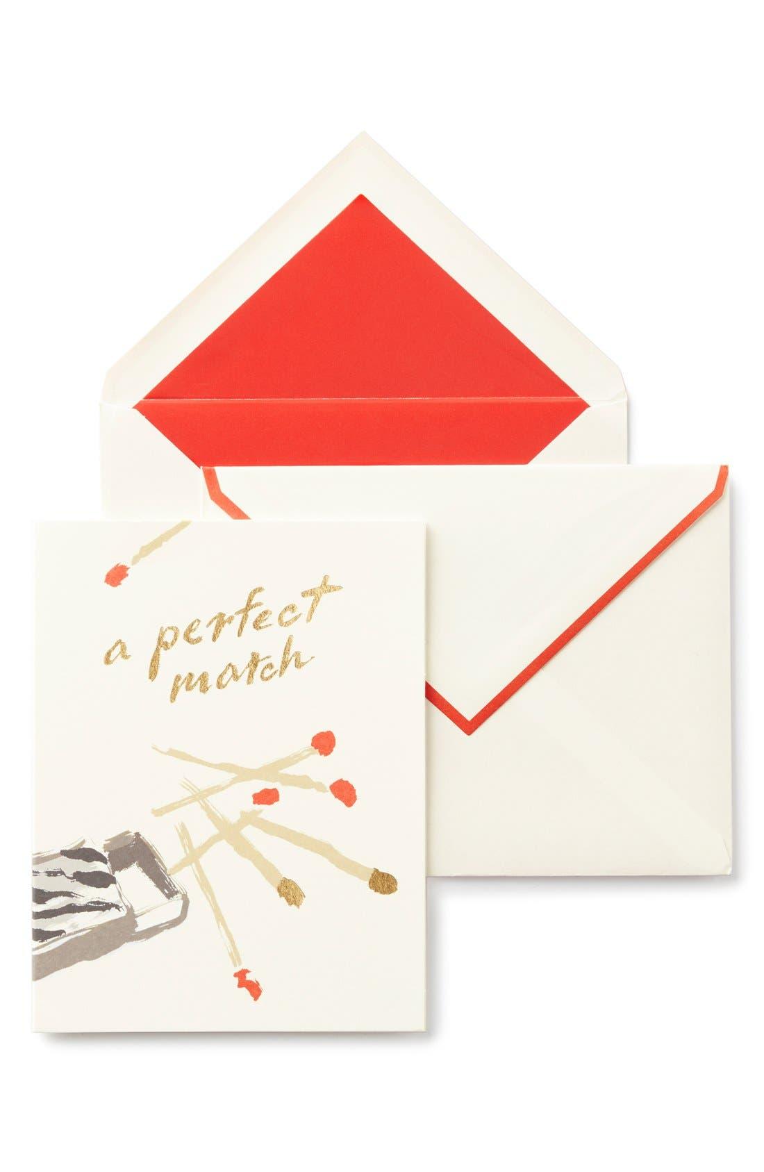 'a perfect match' greeting card,                             Main thumbnail 1, color,                             100