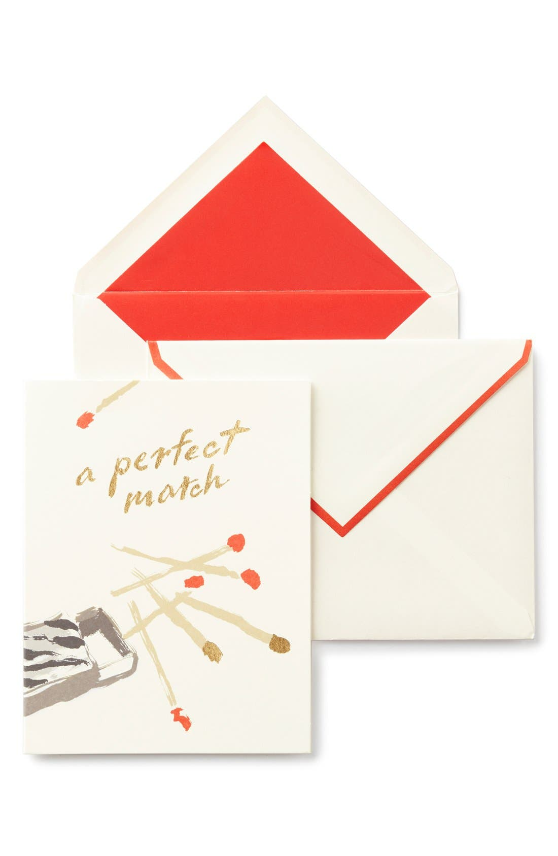 'a perfect match' greeting card,                         Main,                         color, 100