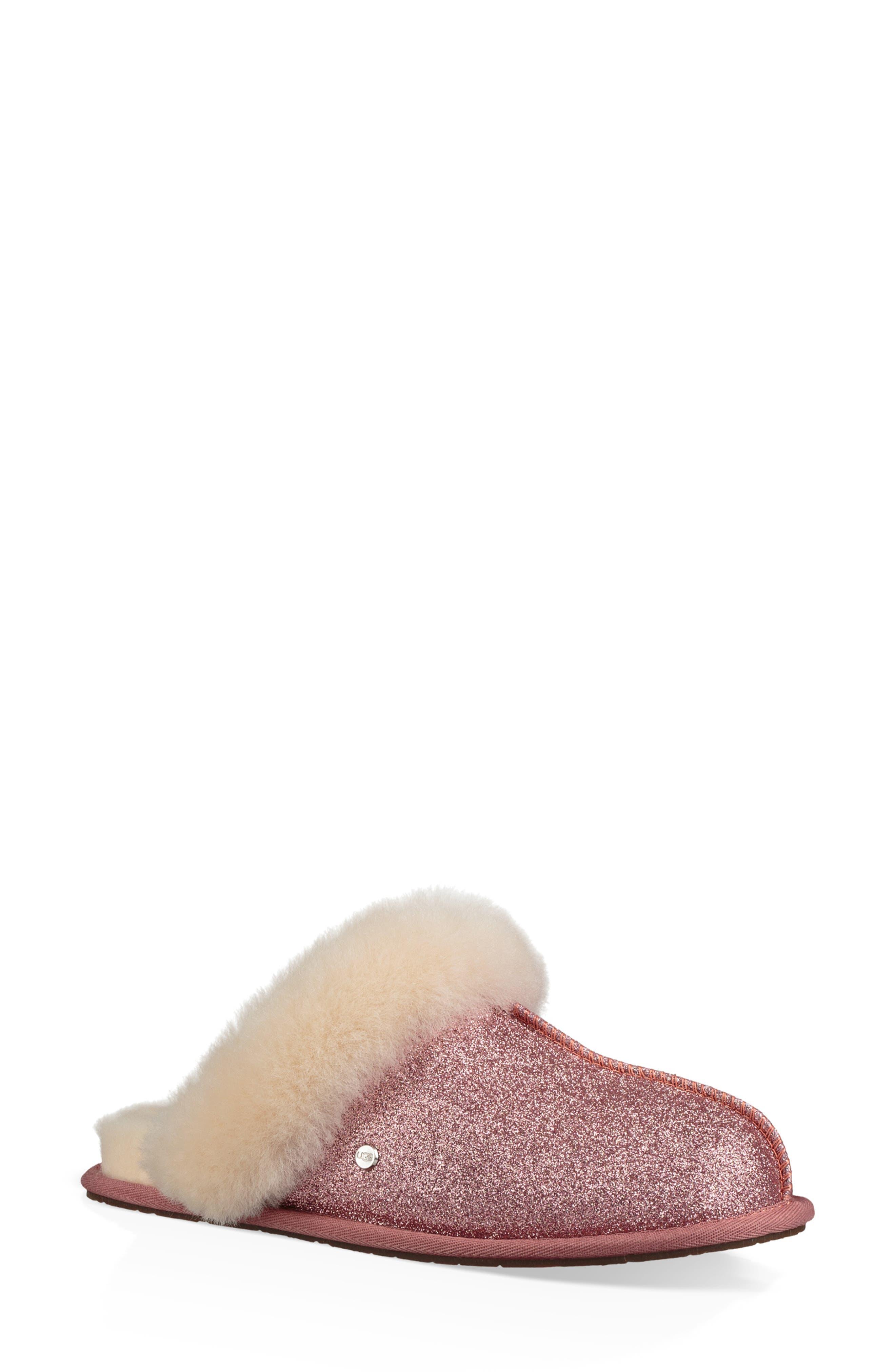 Ugg Scuffette Ii Sparkle Genuine Shearling Slipper, Pink