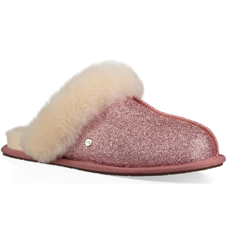Check Out UGG Scuffette II Sparkle Genuine Shearling Slipper (Women) Inexpensive