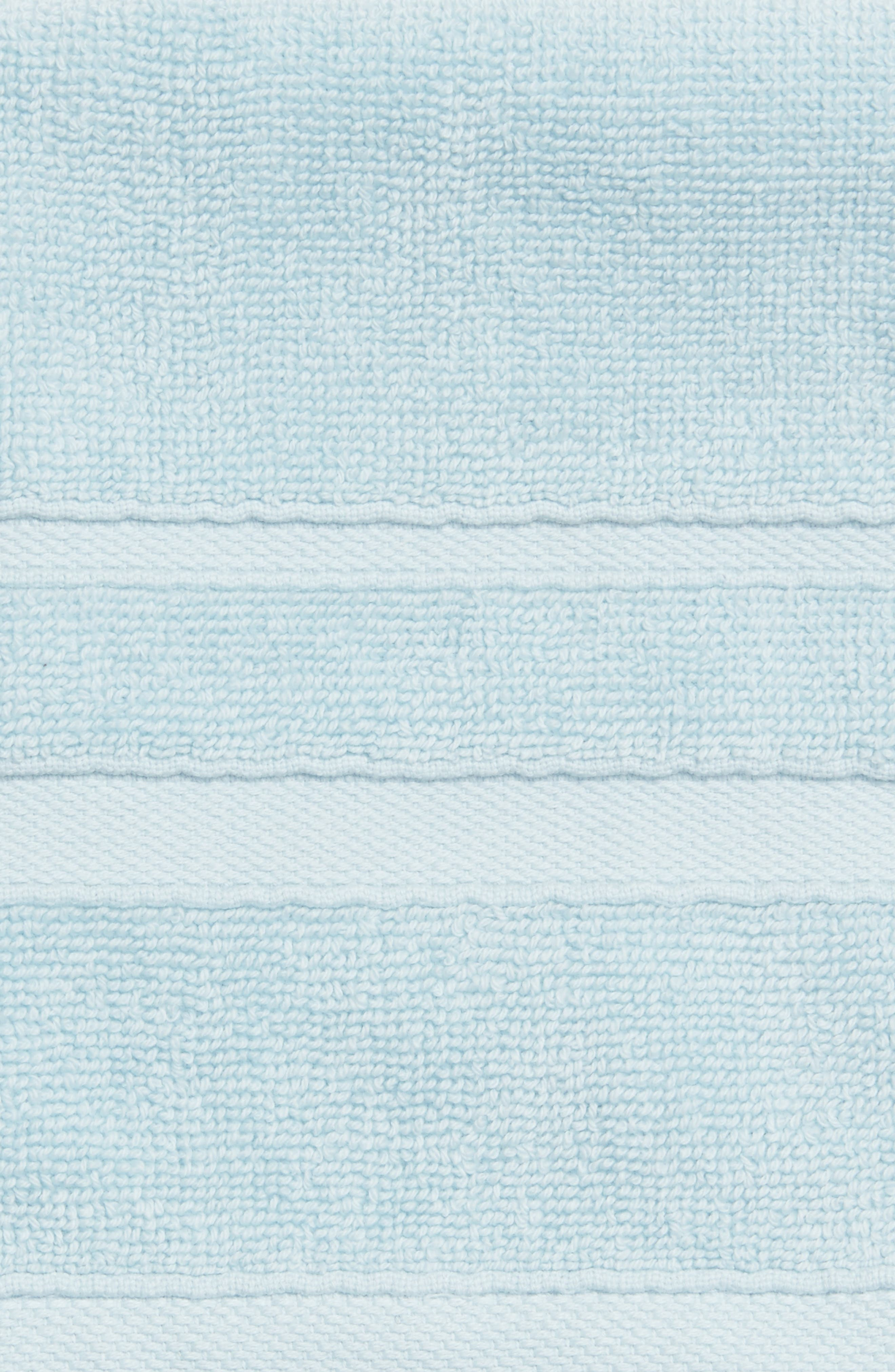 'Perennial' Combed Turkish Cotton Washcloth,                             Alternate thumbnail 3, color,                             CHRYSTAL BLUE