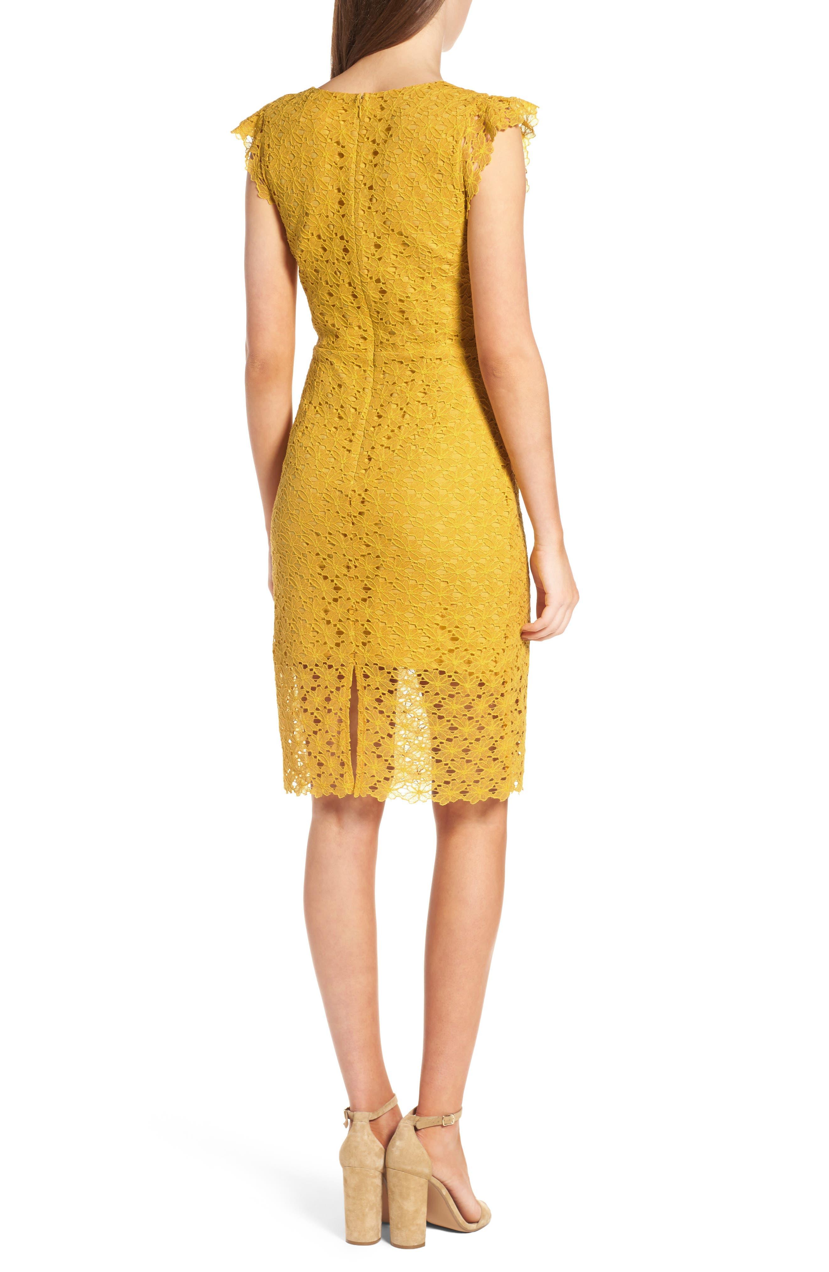 Lace Sheath Dress,                             Alternate thumbnail 2, color,                             745
