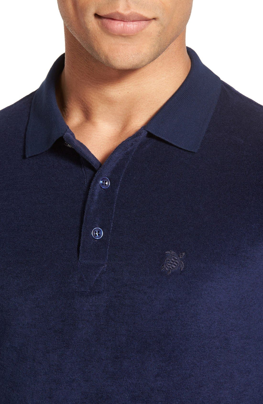 Terry Polo,                             Alternate thumbnail 4, color,                             NAVY BLUE