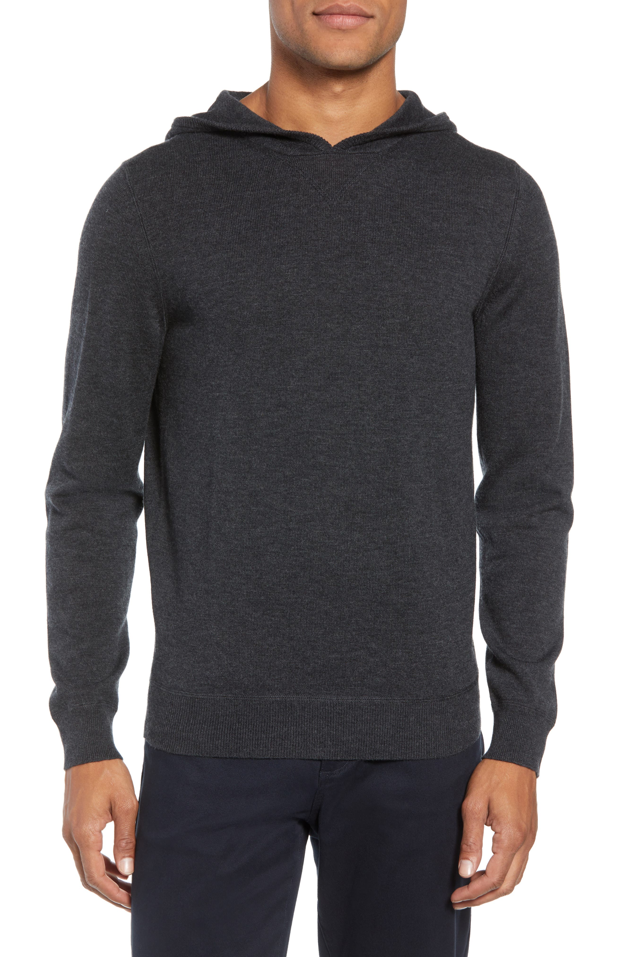 Efabio Wool Blend Hoodie,                         Main,                         color, GREY