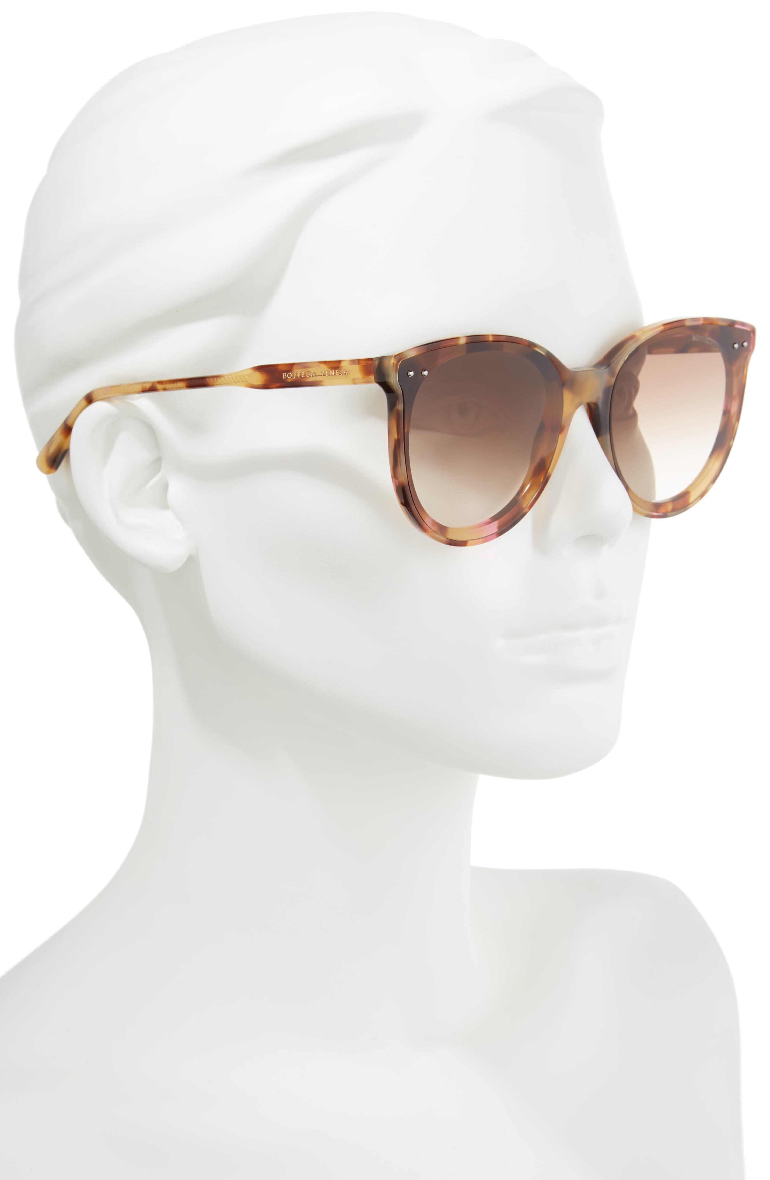 61mm Cat Eye Sunglasses,                             Alternate thumbnail 2, color,                             PINK HAVANA
