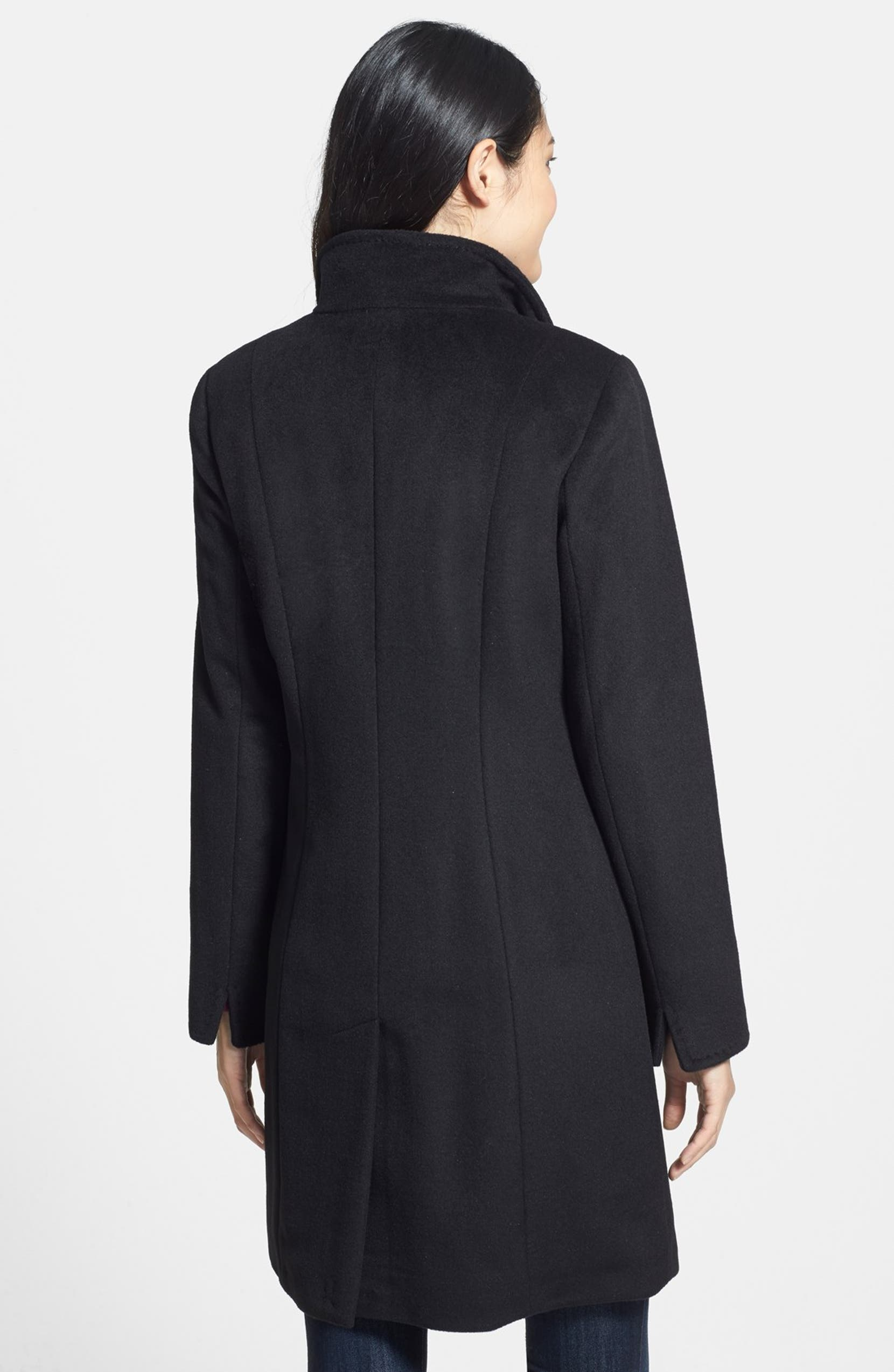 ebb53461e6e Ellen Tracy Single Breasted Wool Blend Walking Coat (Regular   Petite)