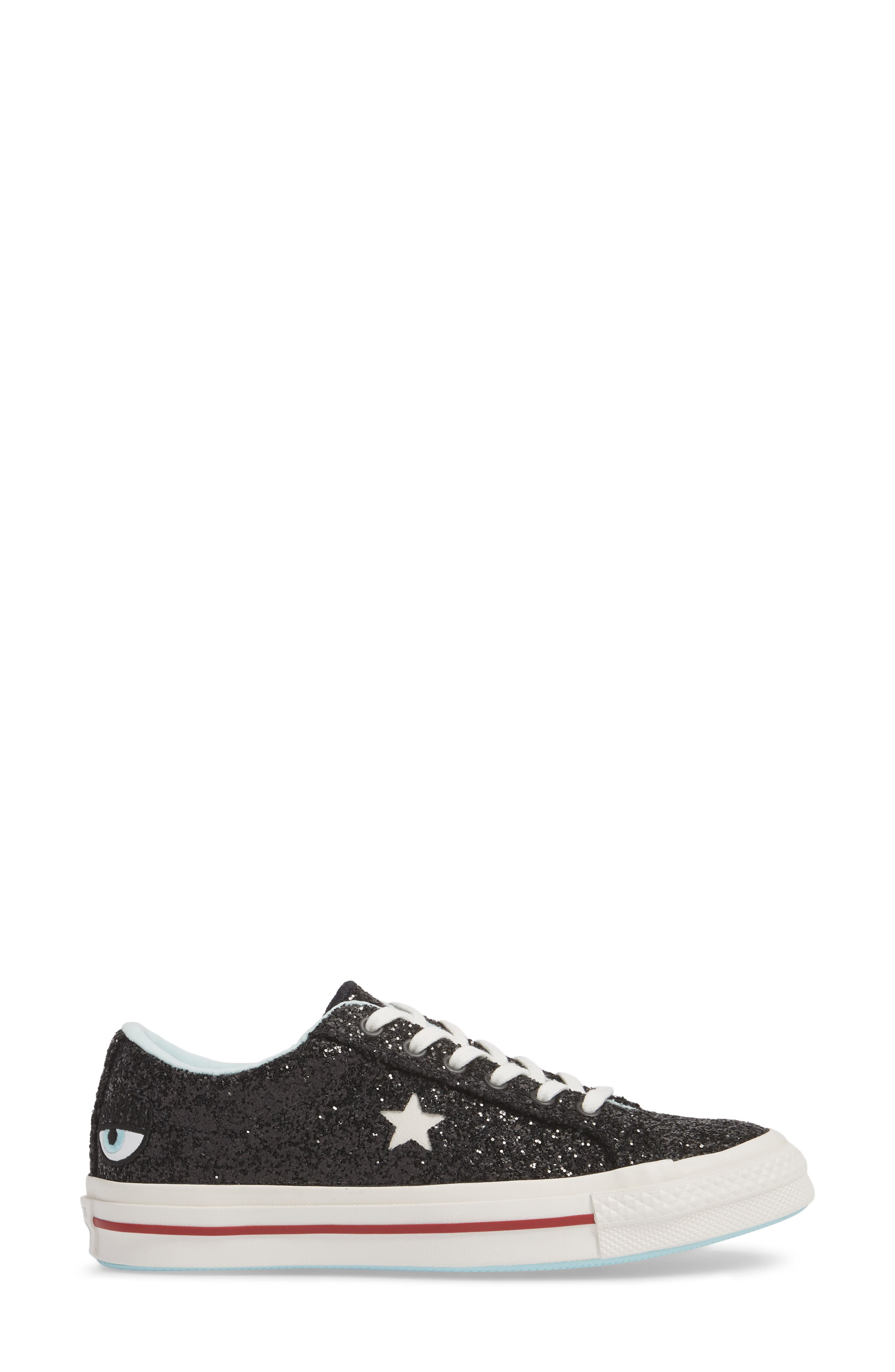 x Chiara Ferragni One Star Ox Sneaker,                             Alternate thumbnail 3, color,                             001