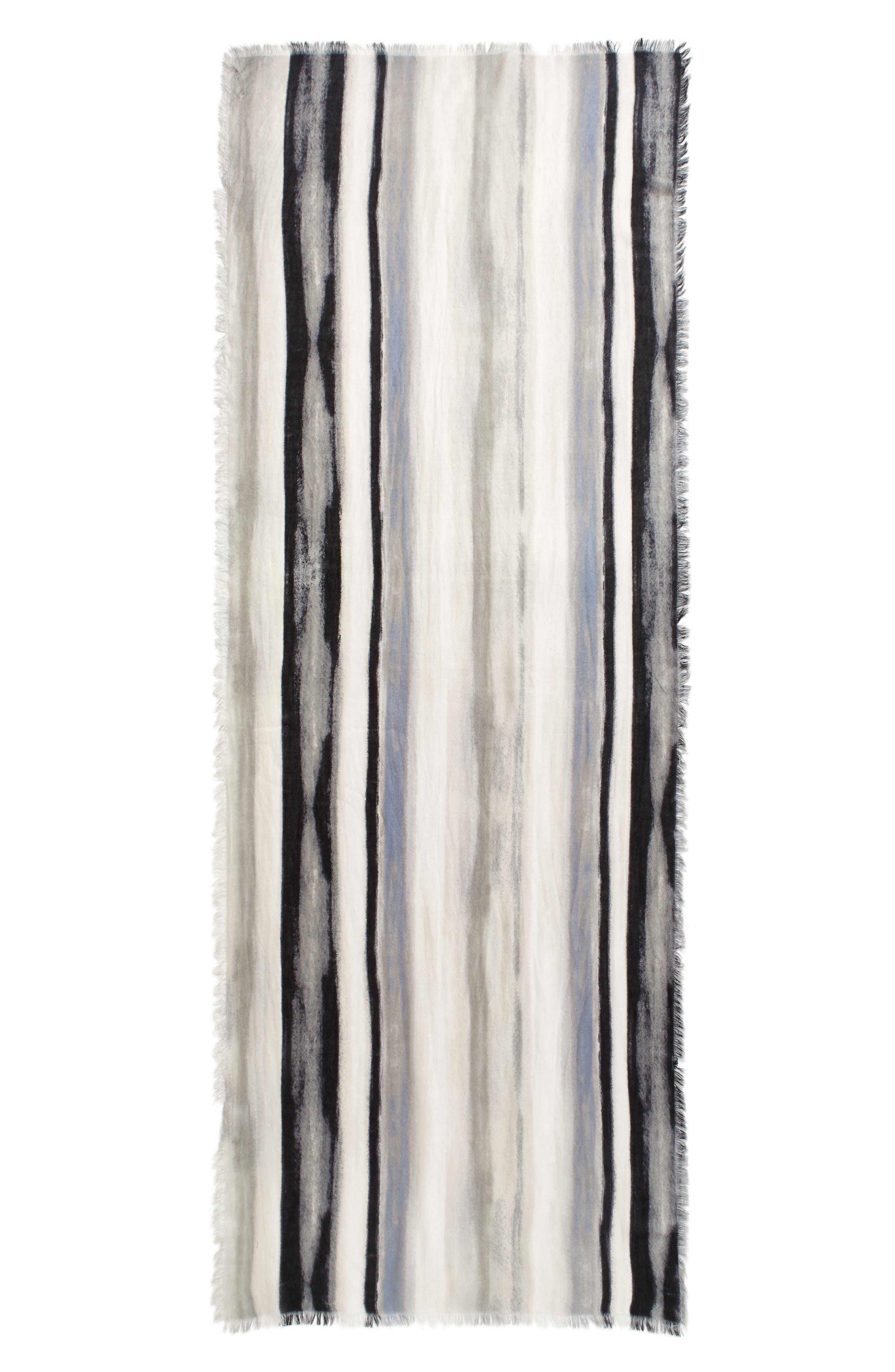 NORDSTROM,                             Artist Ombré Cashmere & Silk Scarf,                             Alternate thumbnail 2, color,                             030