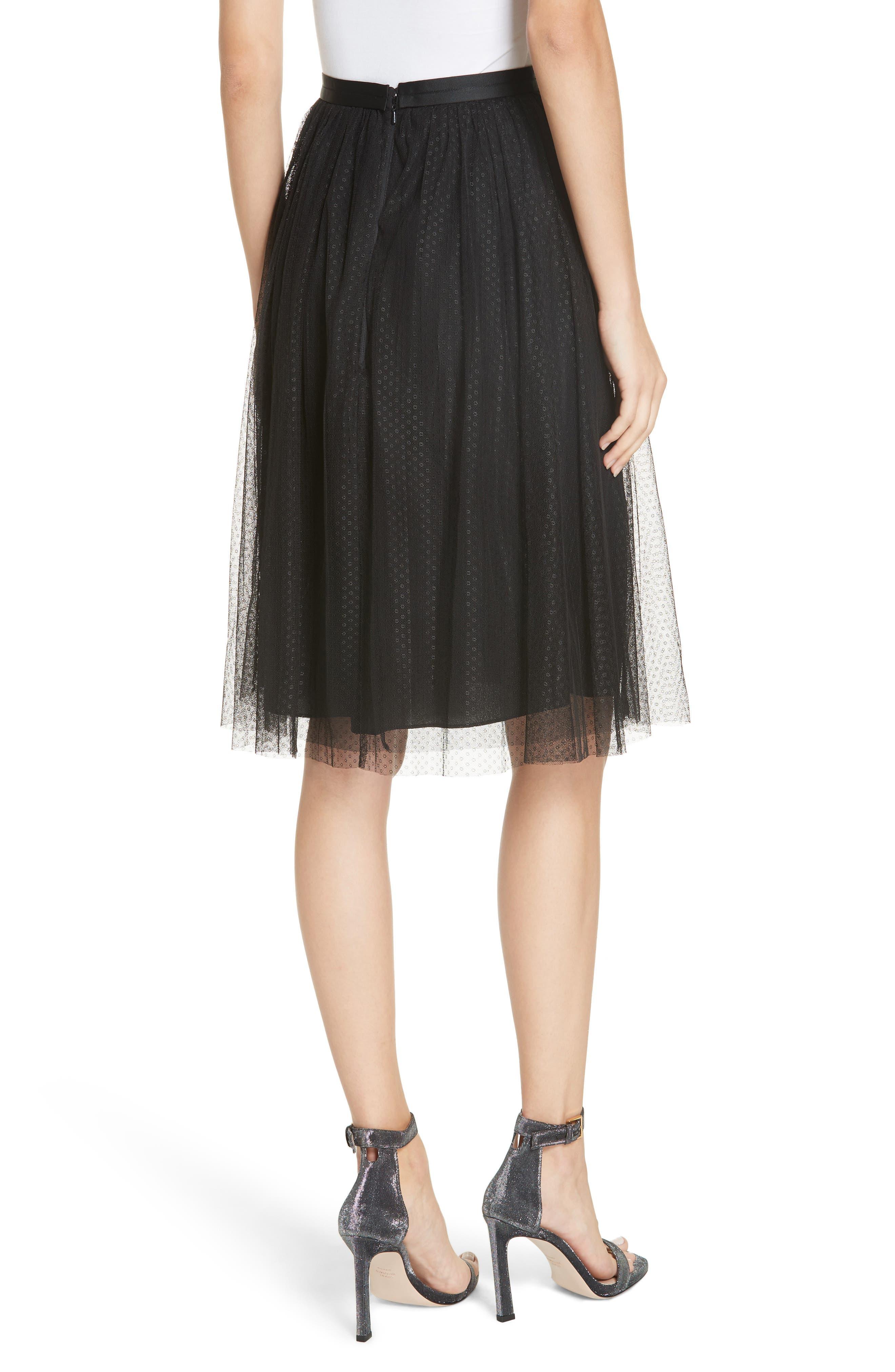 Dotted Tulle Skirt,                             Alternate thumbnail 2, color,                             001