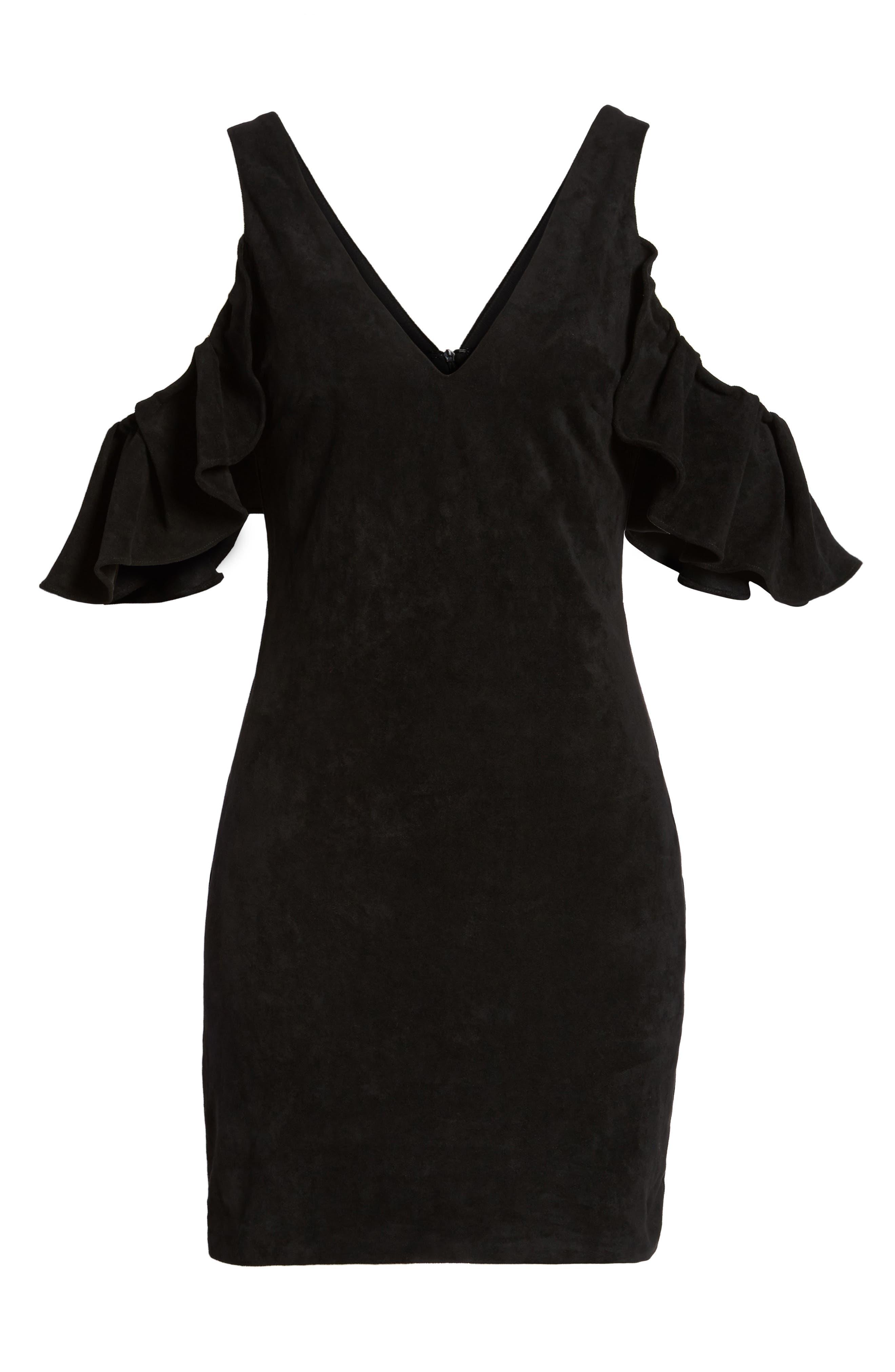 Deane Cold Shoulder Sheath Dress,                             Alternate thumbnail 6, color,                             001