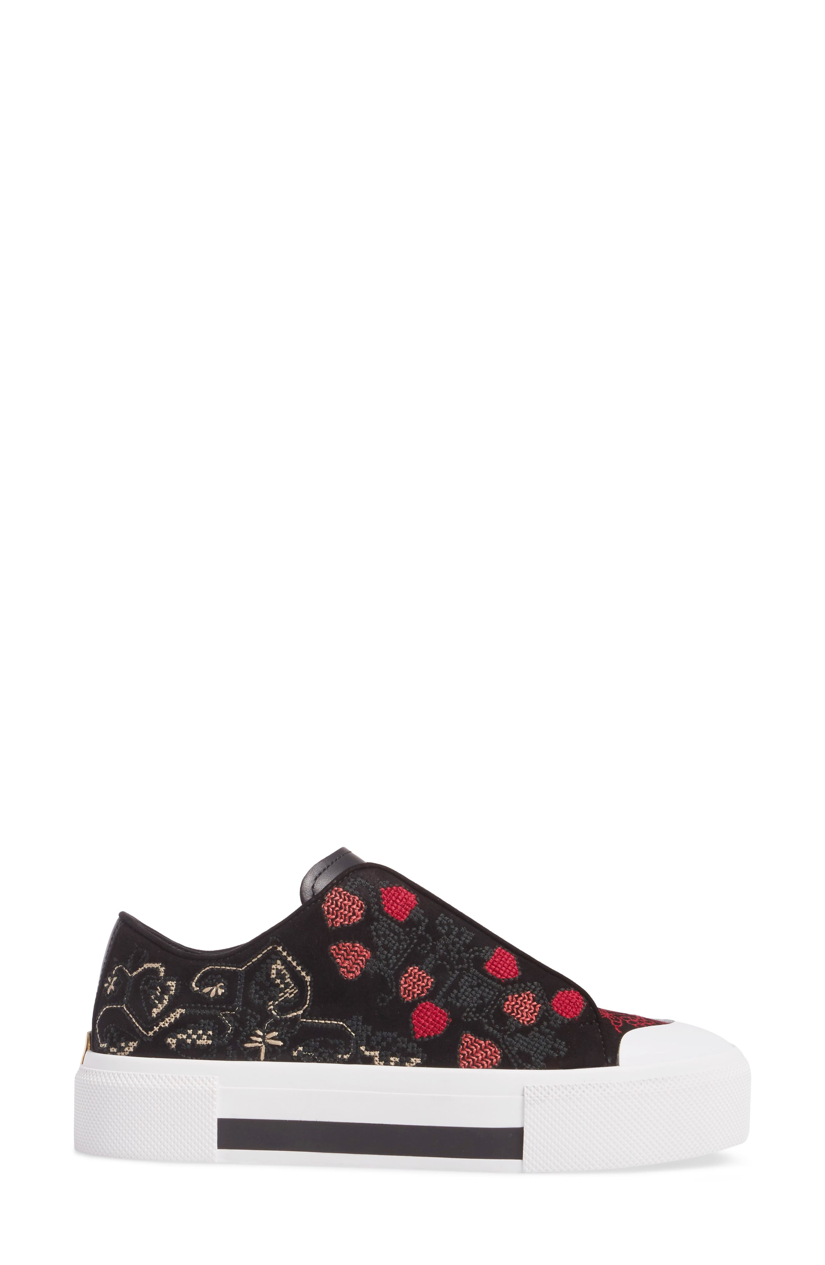 Cap Toe Platform Sneaker,                             Alternate thumbnail 3, color,