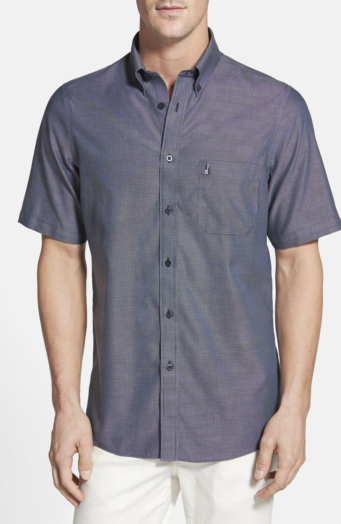 'Classic' Smartcare<sup>™</sup> Regular Fit Short Sleeve Cotton Sport Shirt,                             Main thumbnail 13, color,