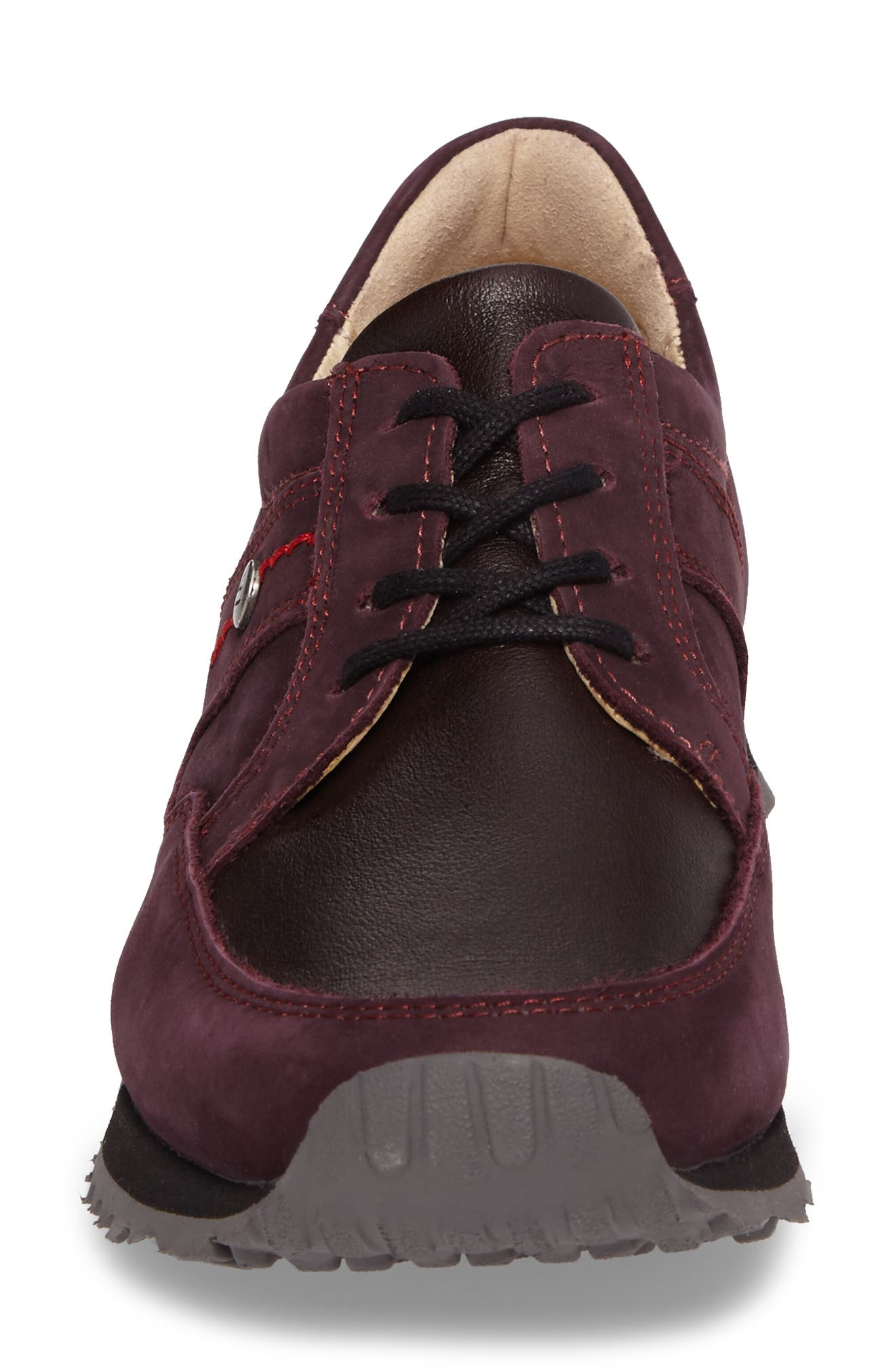 E-Walk Sneaker,                             Alternate thumbnail 4, color,                             BORDO LEATHER
