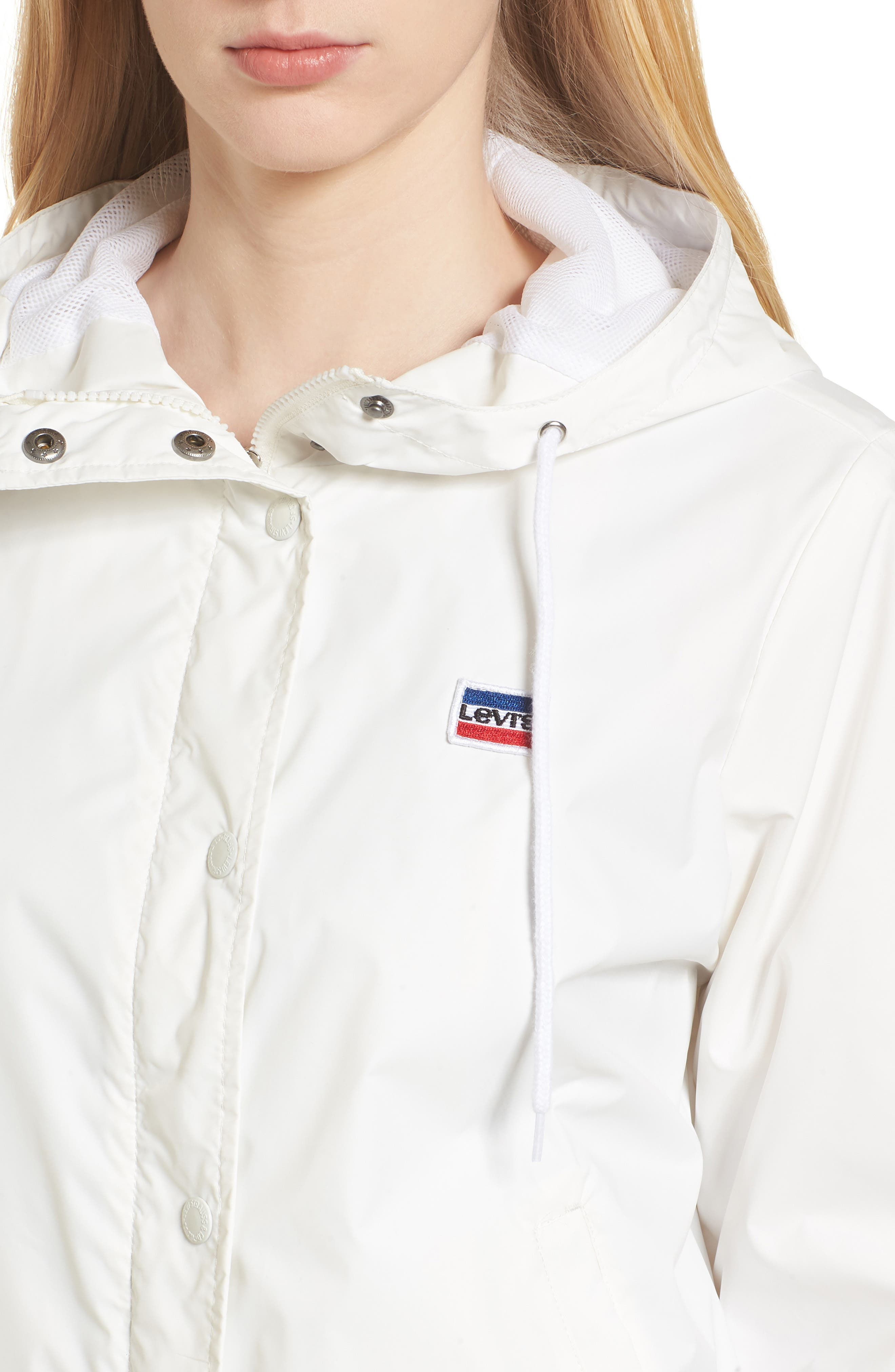 Retro Hooded Coach's Jacket,                             Alternate thumbnail 4, color,                             100