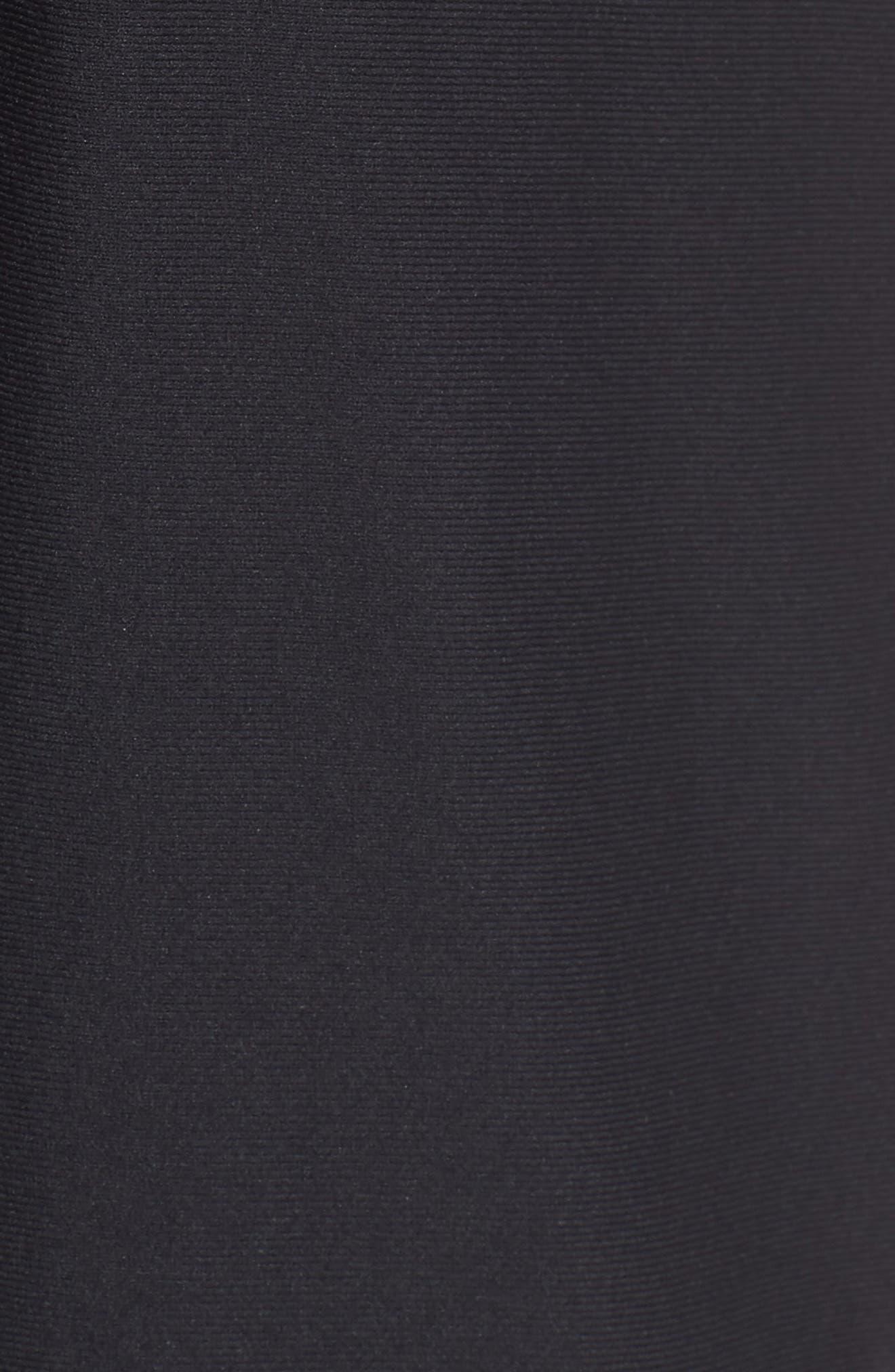 Threadborne Vanish Fitted Shorts,                             Alternate thumbnail 5, color,                             BLACK