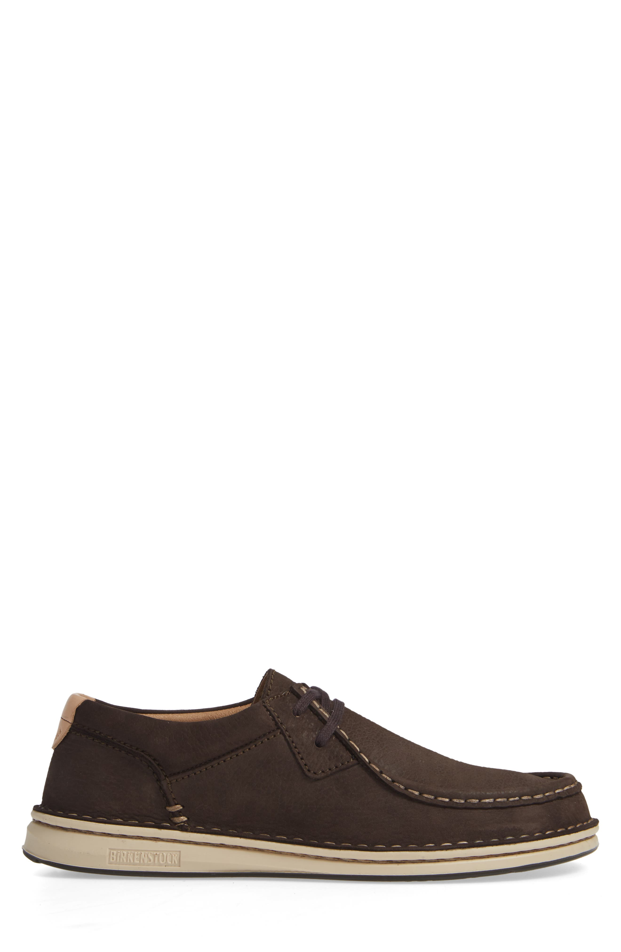 'Pasadena' Lace-Up Moccasin,                             Alternate thumbnail 3, color,                             BROWN