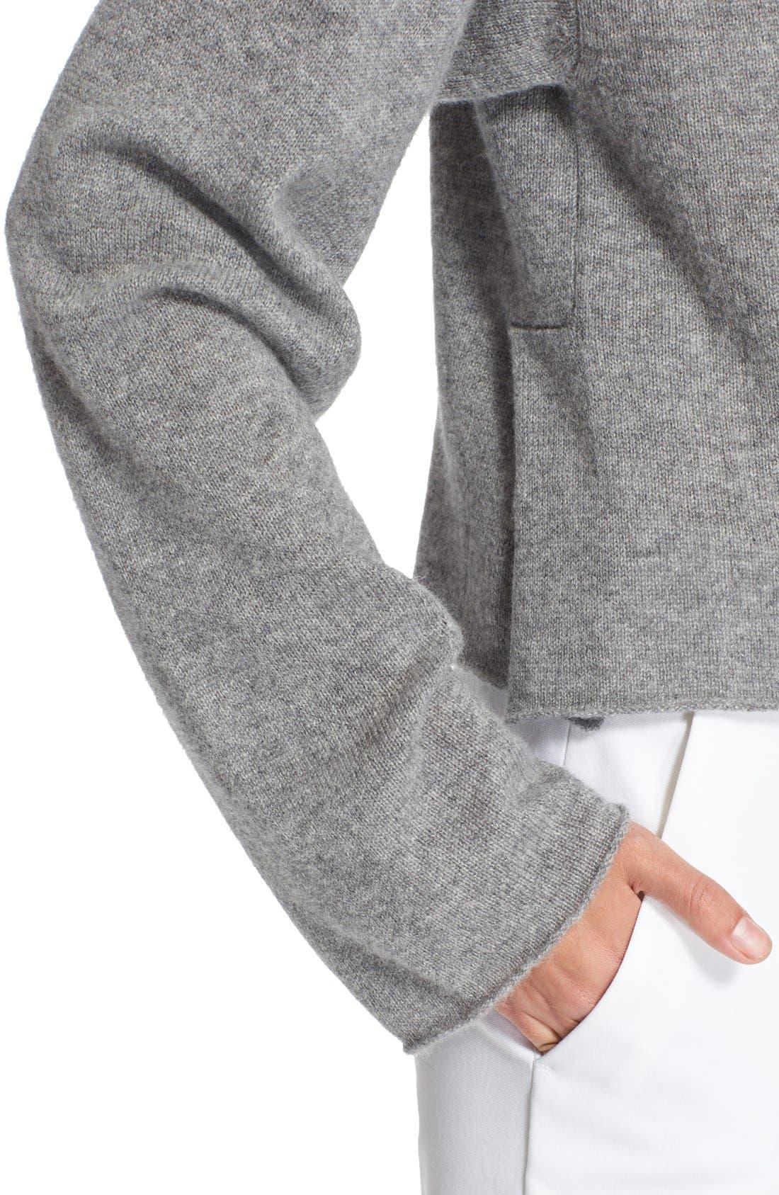 'Martin' Cashmere Crop Sweater,                             Alternate thumbnail 4, color,                             020