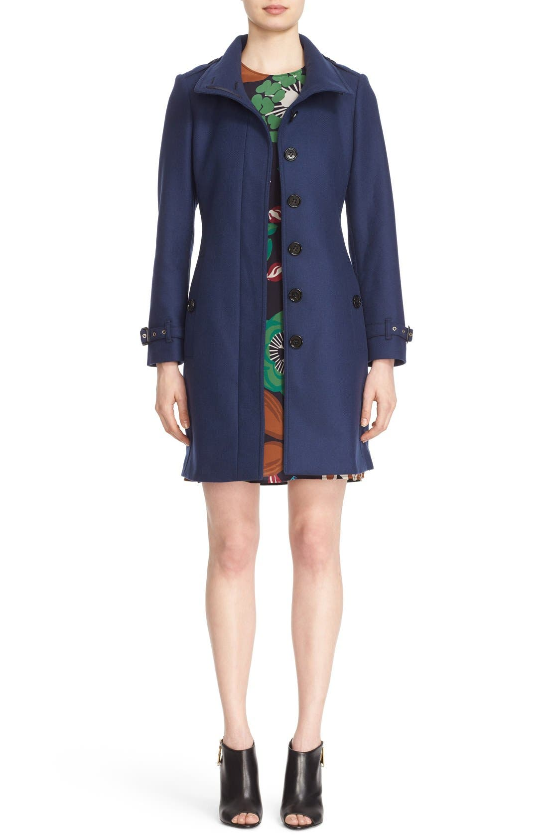 Gibbsmoore Funnel Collar Trench Coat,                         Main,                         color, 466
