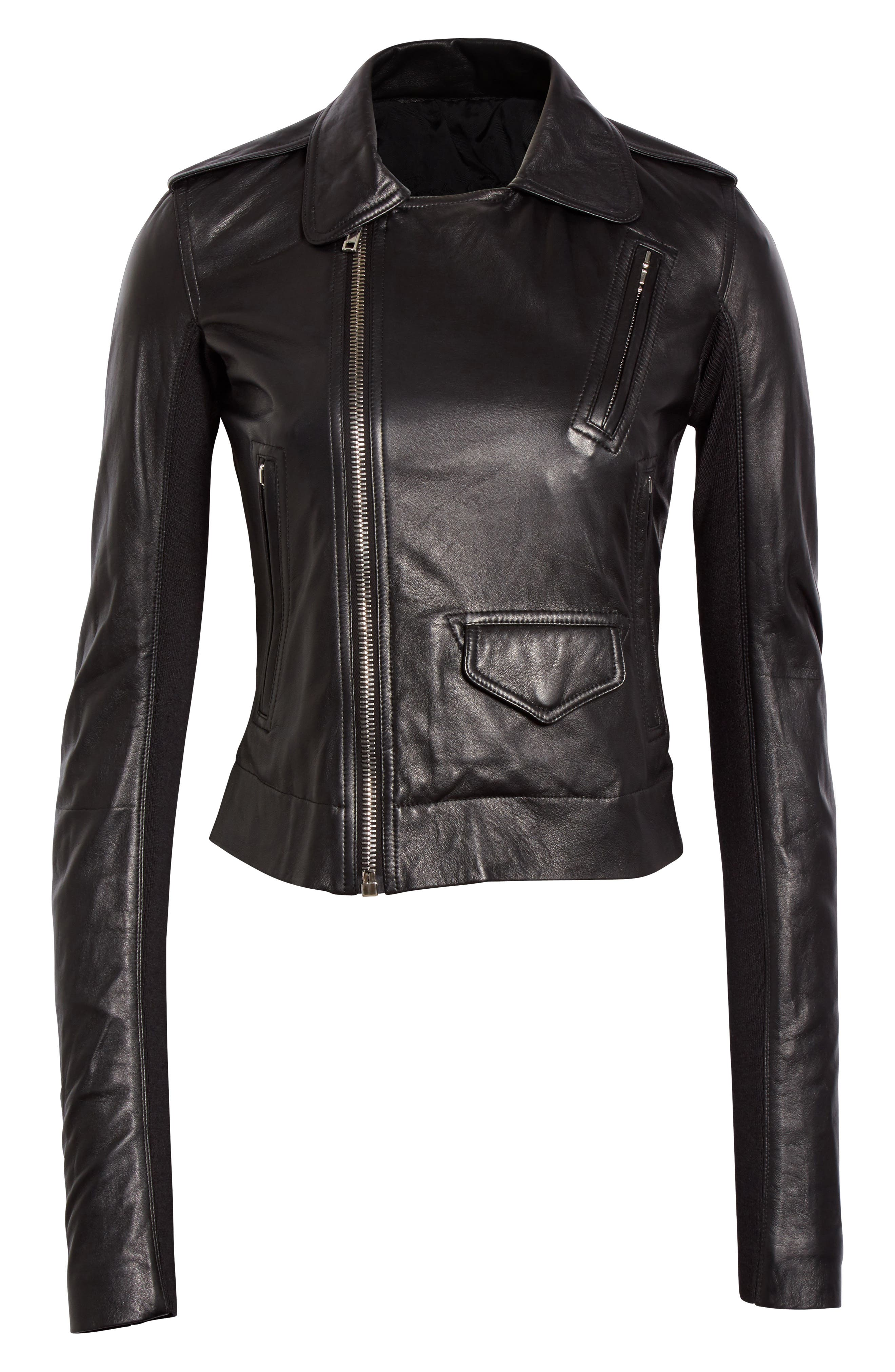Stooges Leather Jacket,                             Alternate thumbnail 6, color,                             009