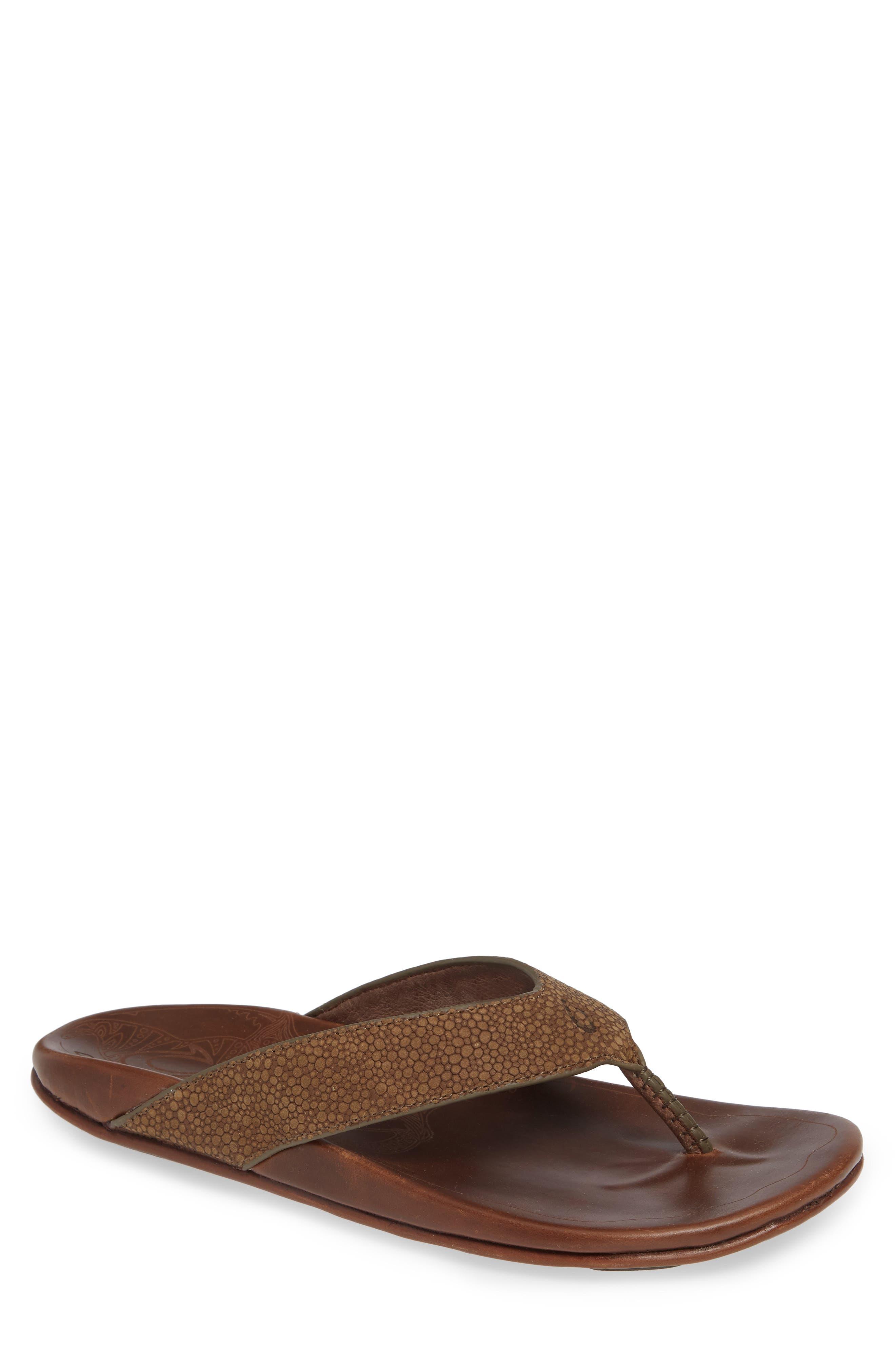 Kohana Kai Flip Flop,                         Main,                         color, MUSTANG/ TOFFEE
