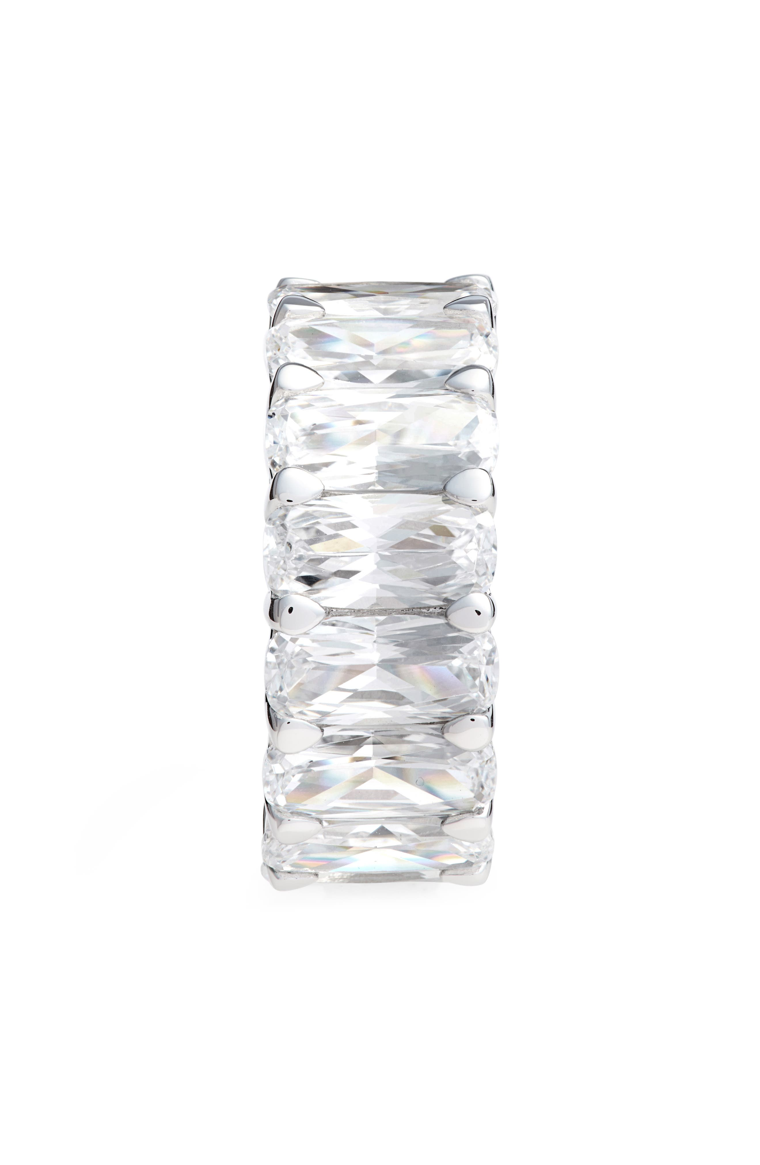 Oversized Eternity Band,                             Alternate thumbnail 2, color,                             SILVER/ CLEAR