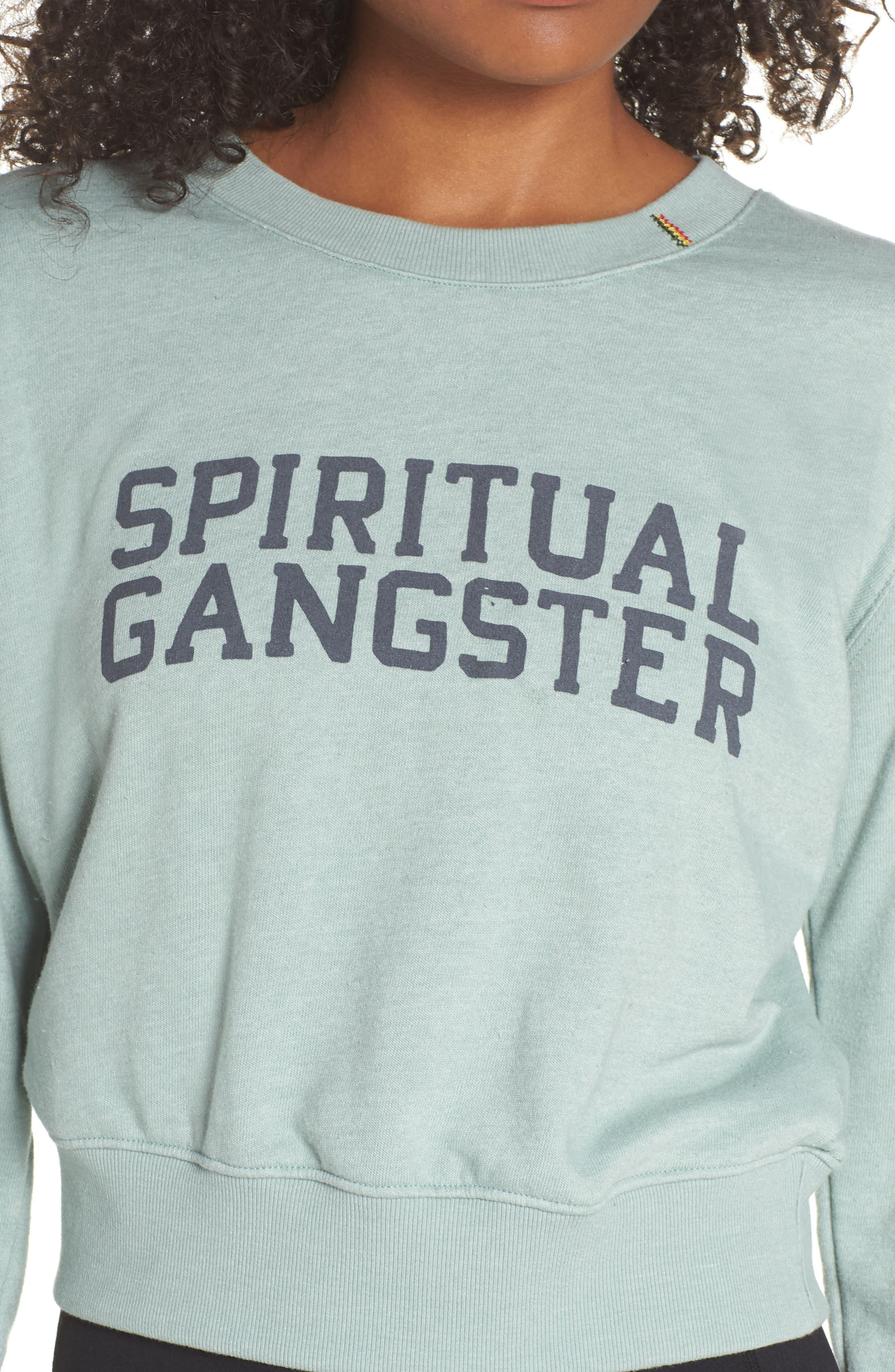 Varsity Crop Sweatshirt,                             Alternate thumbnail 4, color,                             302