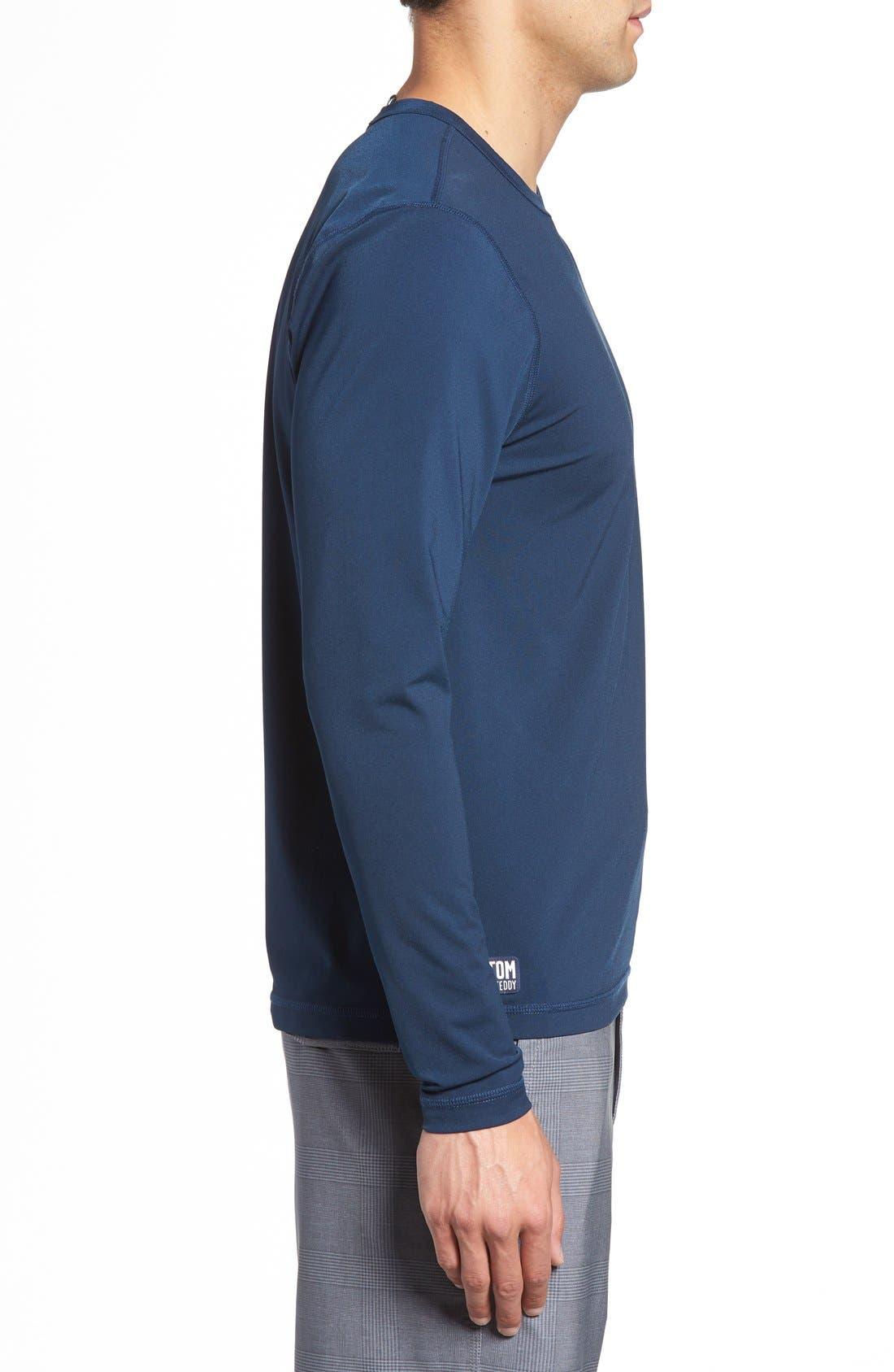 Long Sleeve Stretch Rashguard,                             Alternate thumbnail 7, color,                             DEEP BLUE