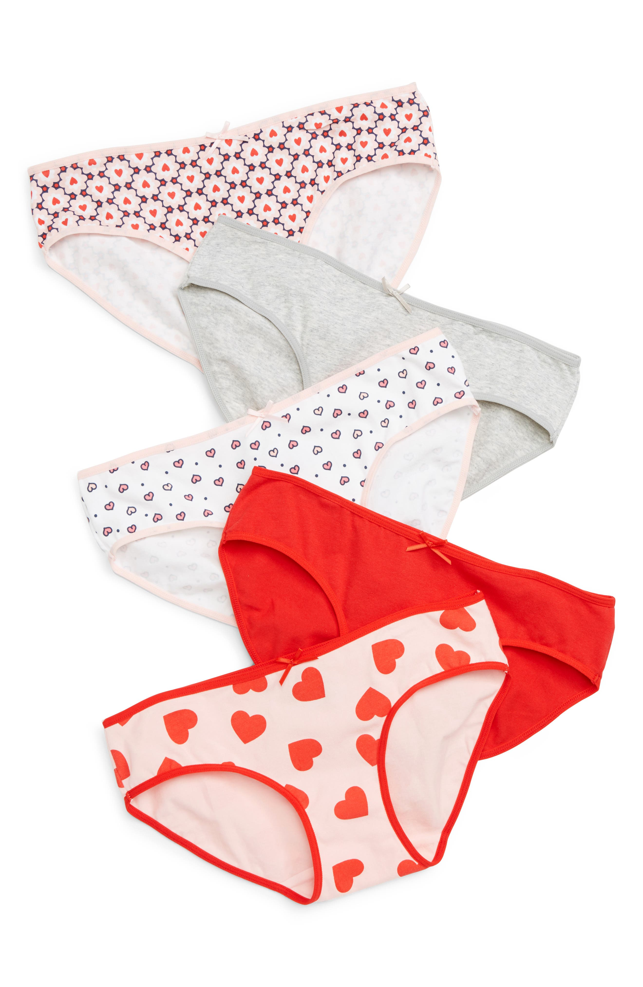 5-Pack Hipster Briefs,                             Main thumbnail 1, color,                             MODERN HEART PACK