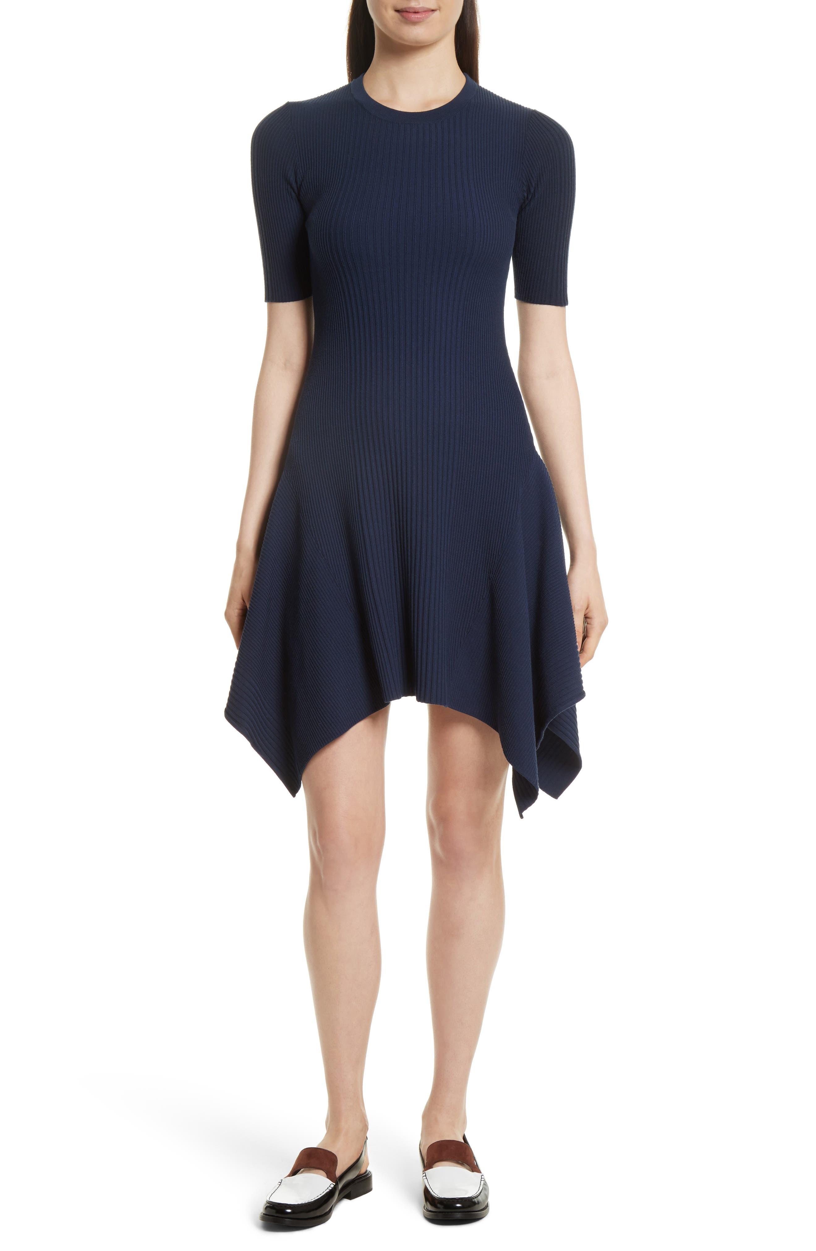 Delta Rib Knit Dress,                             Main thumbnail 1, color,                             401