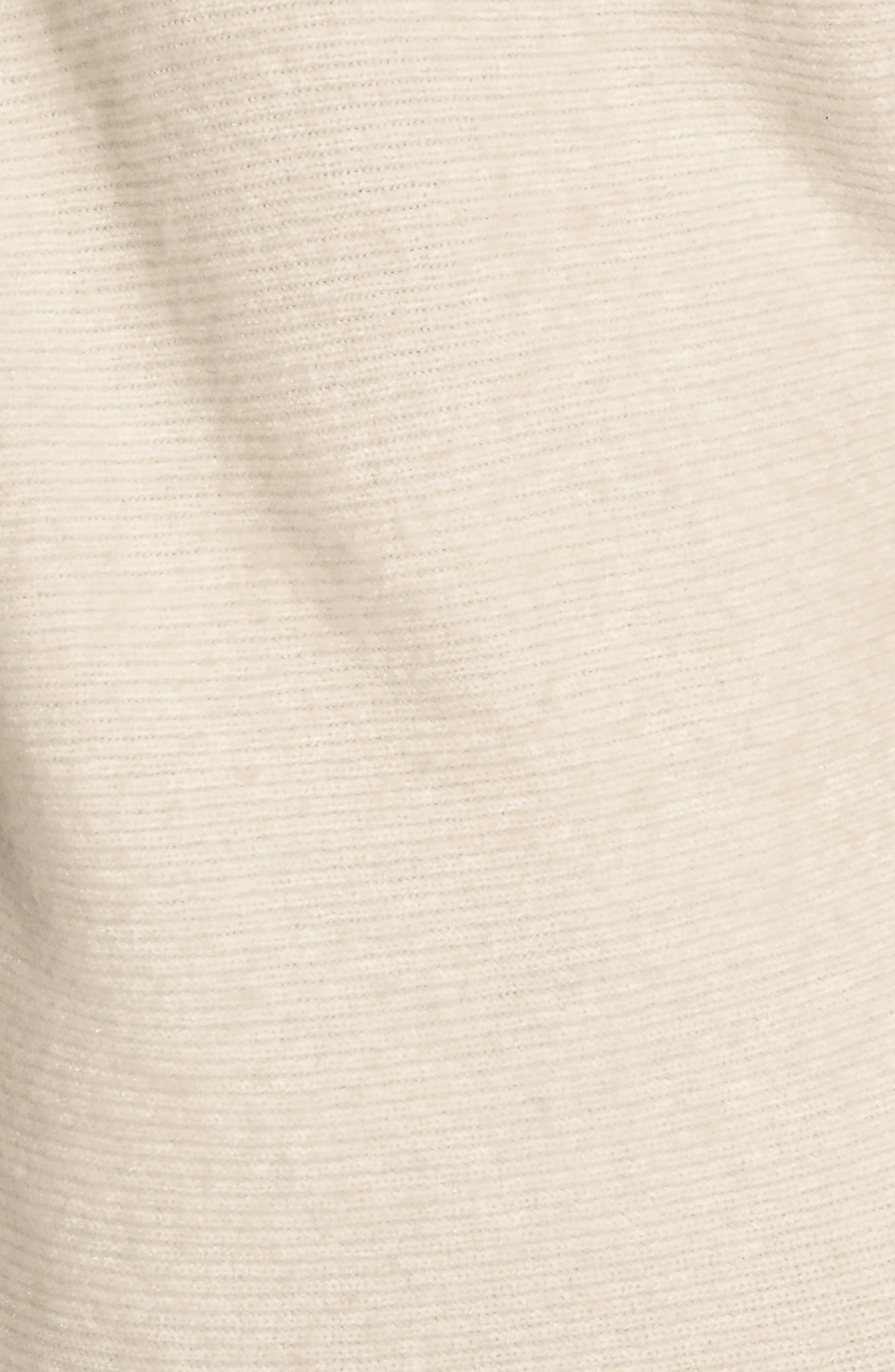TREASURE & BOND,                             One-Shoulder Ribbed Sweater,                             Alternate thumbnail 5, color,                             BEIGE OATMEAL LIGHT HEATHER