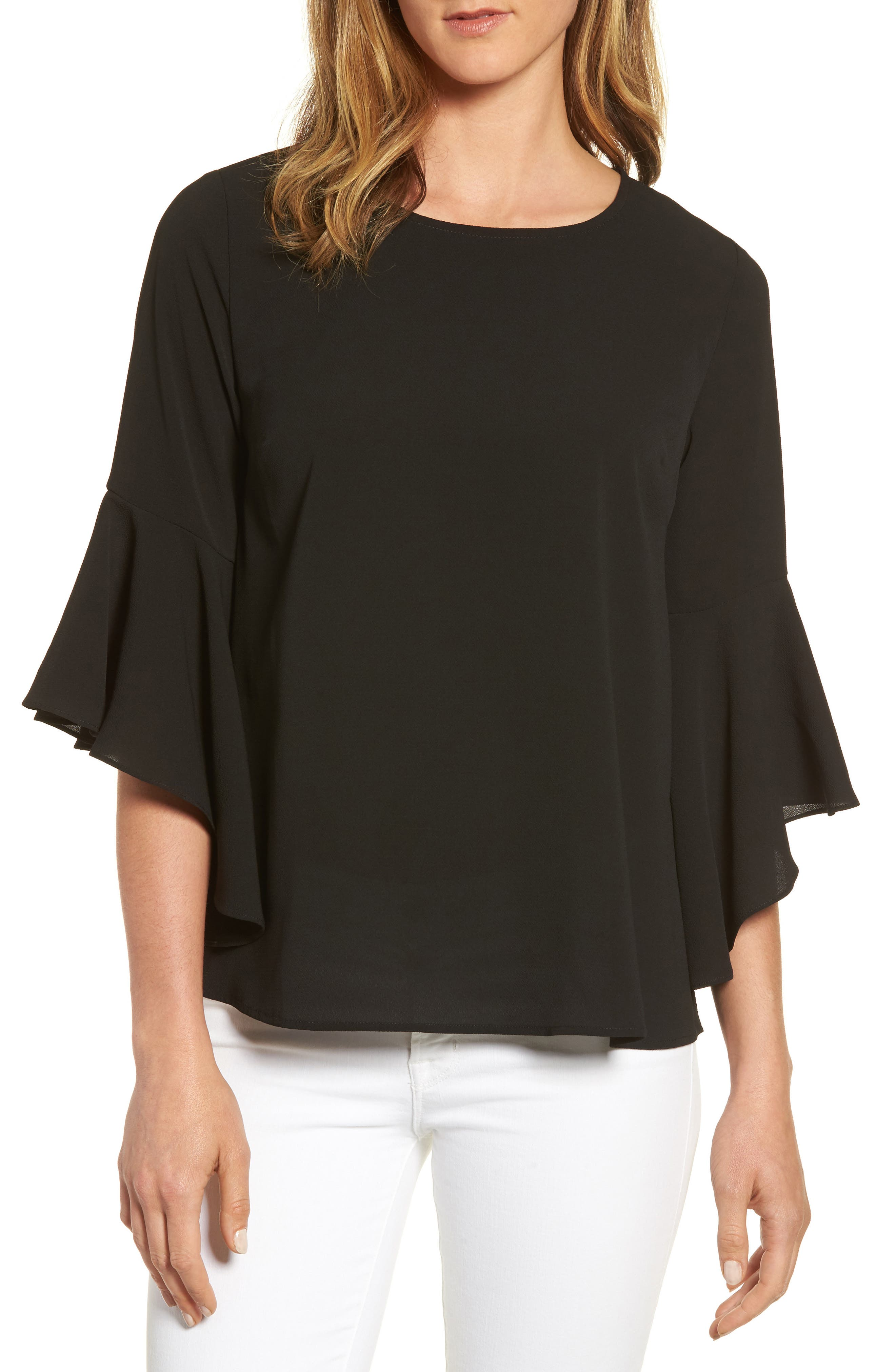 Bell Sleeve Blouse, Main, color, 001