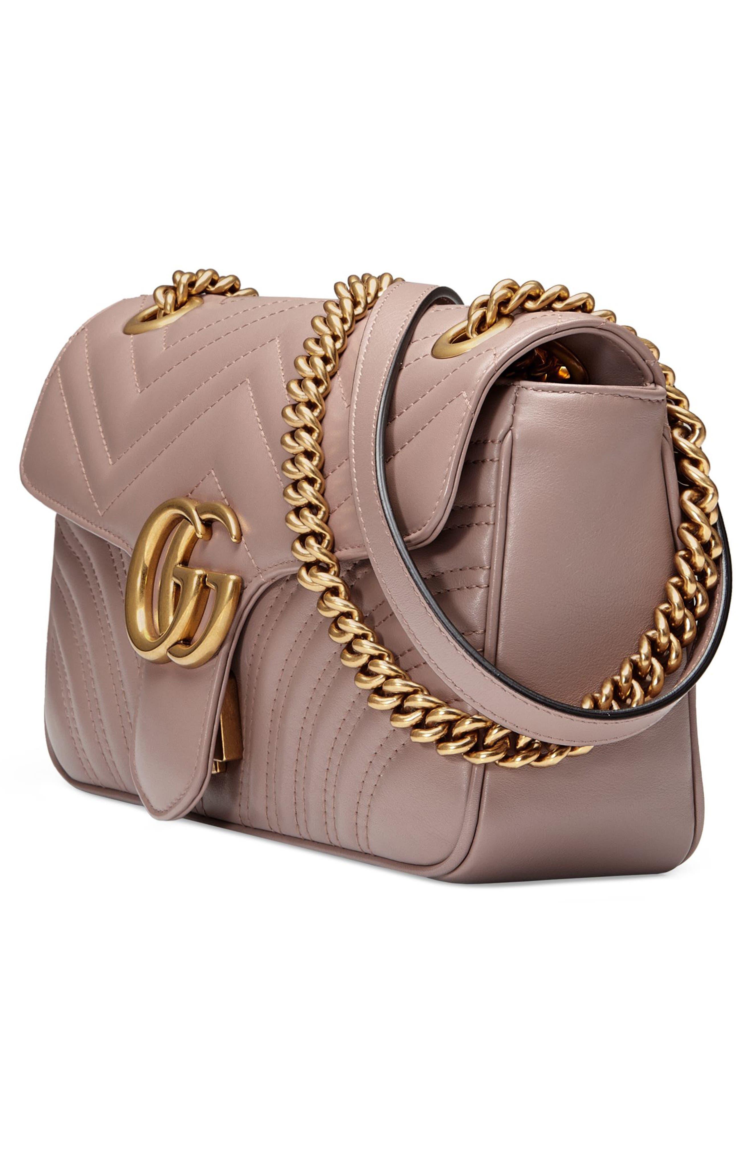 Small GG Marmont 2.0 Matelassé Leather Shoulder Bag,                             Alternate thumbnail 18, color,