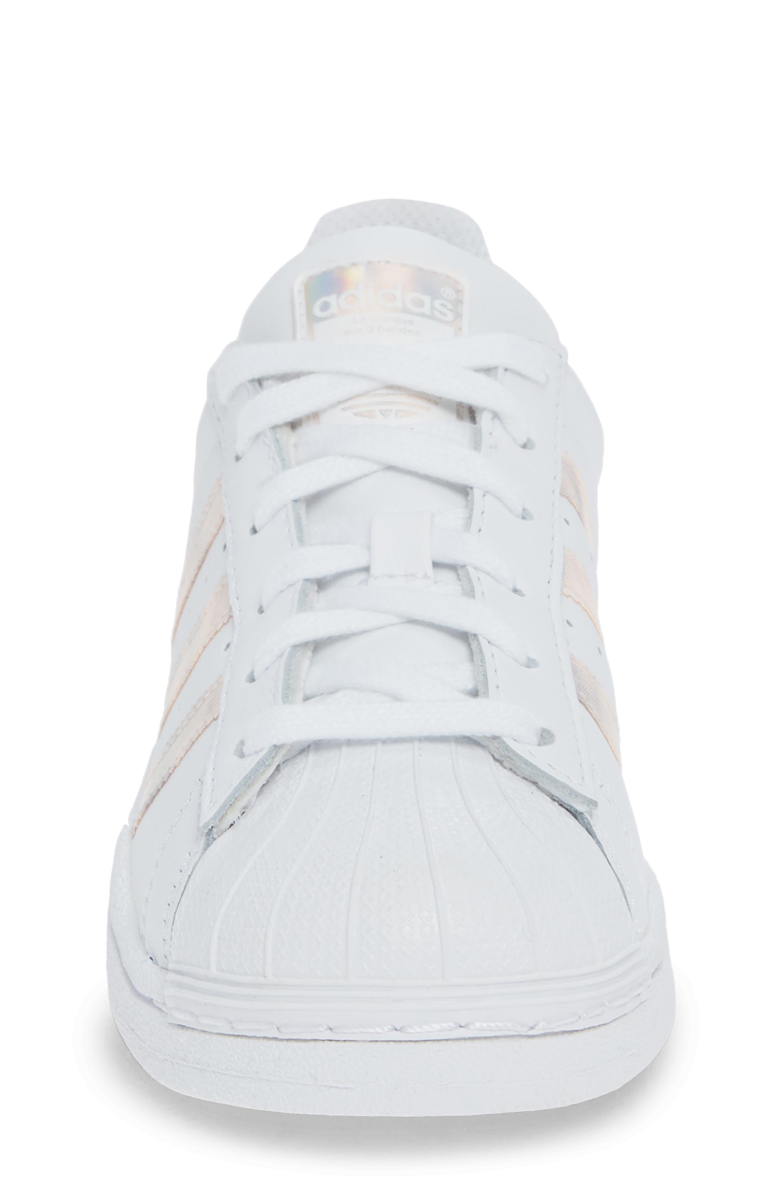 'Superstar II' Sneaker,                             Alternate thumbnail 4, color,                             FTWR WHITE