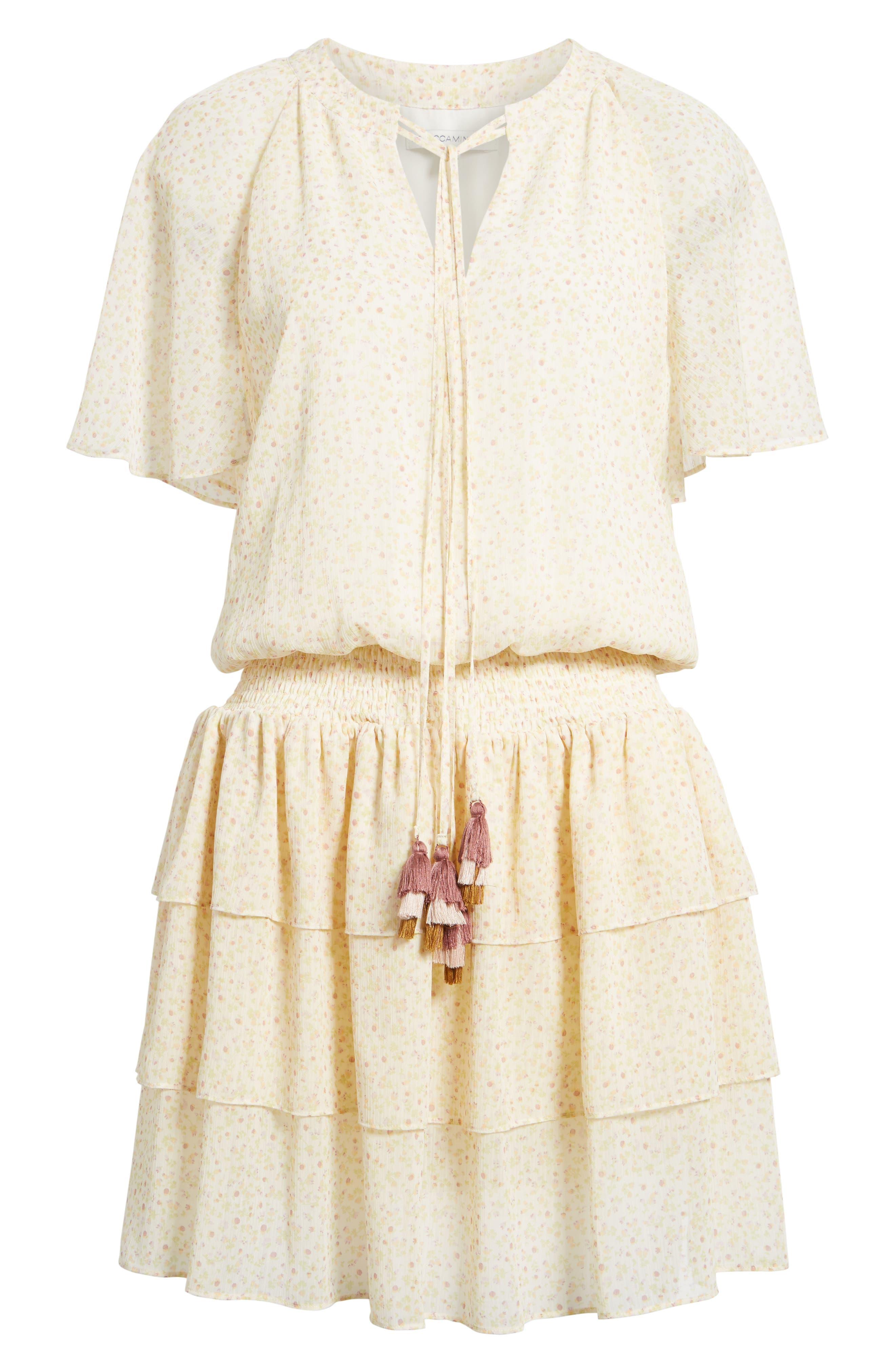 Pebble Blouson Minidress,                             Alternate thumbnail 6, color,
