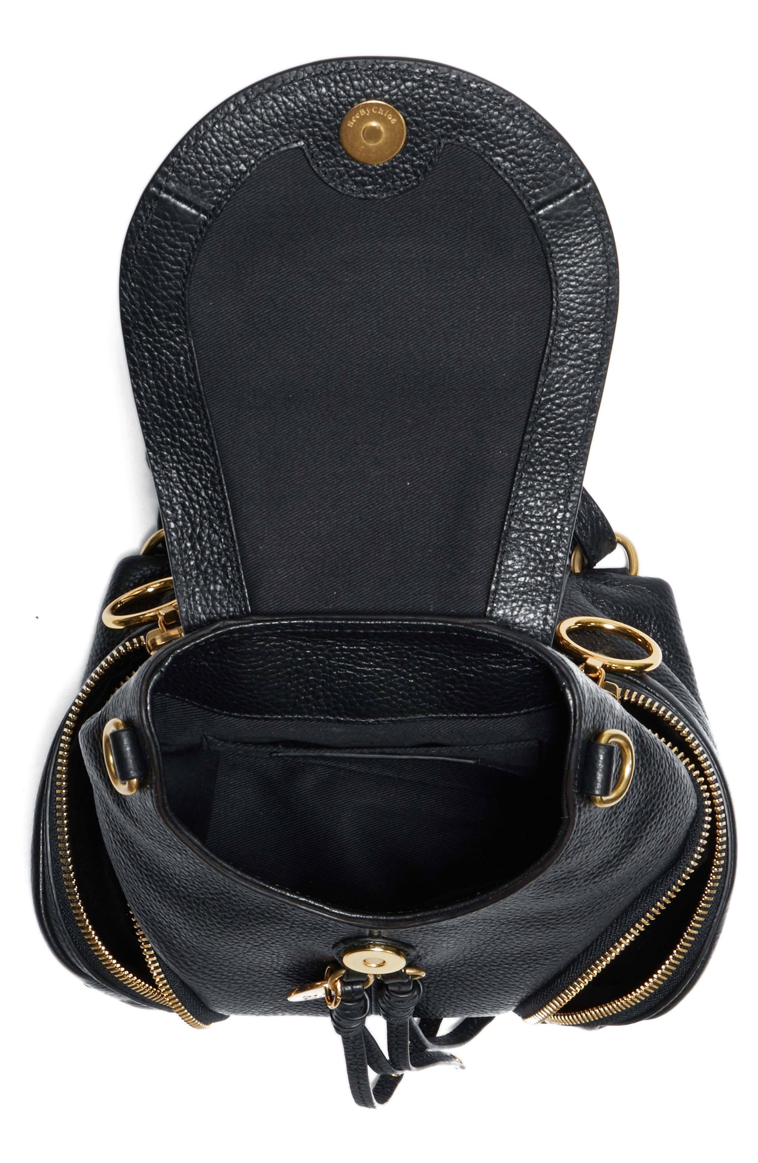 Small Olga Leather Backpack,                             Alternate thumbnail 10, color,