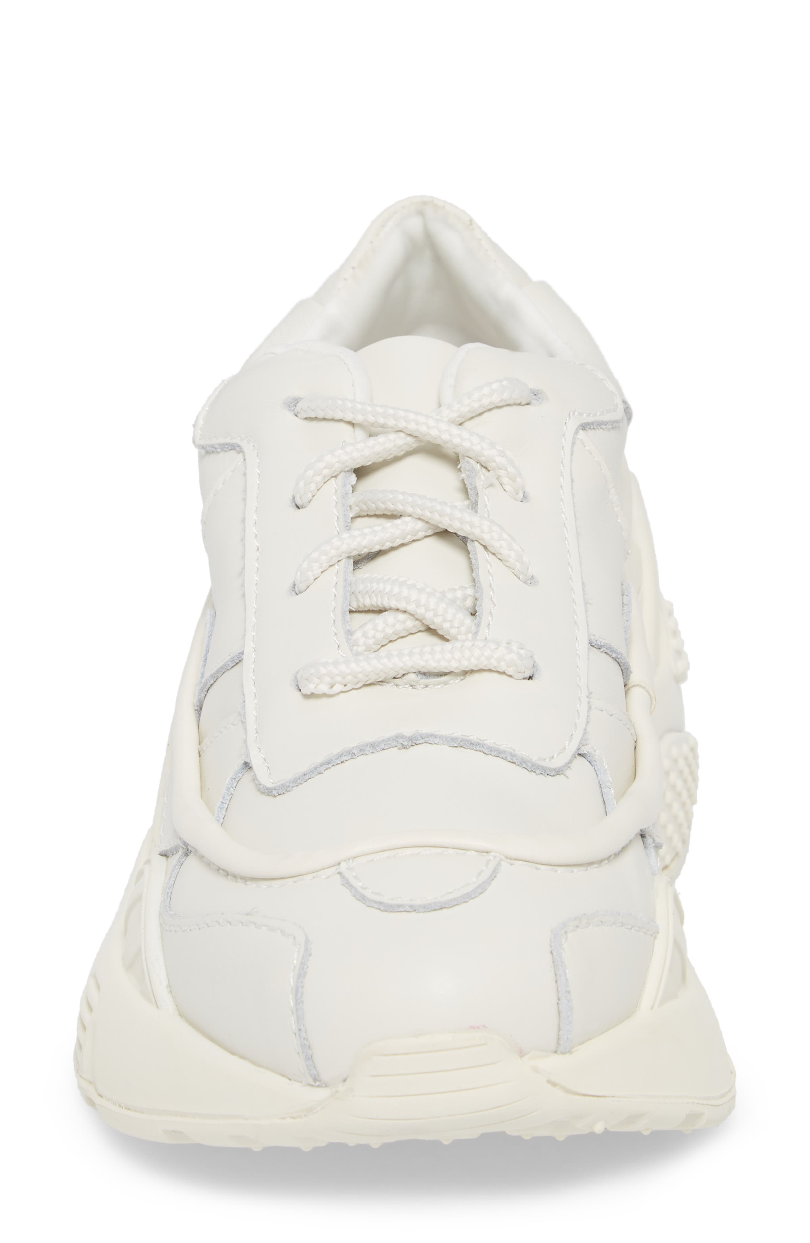 HMDI Platform Sneaker,                             Alternate thumbnail 4, color,                             WHITE LEATHER