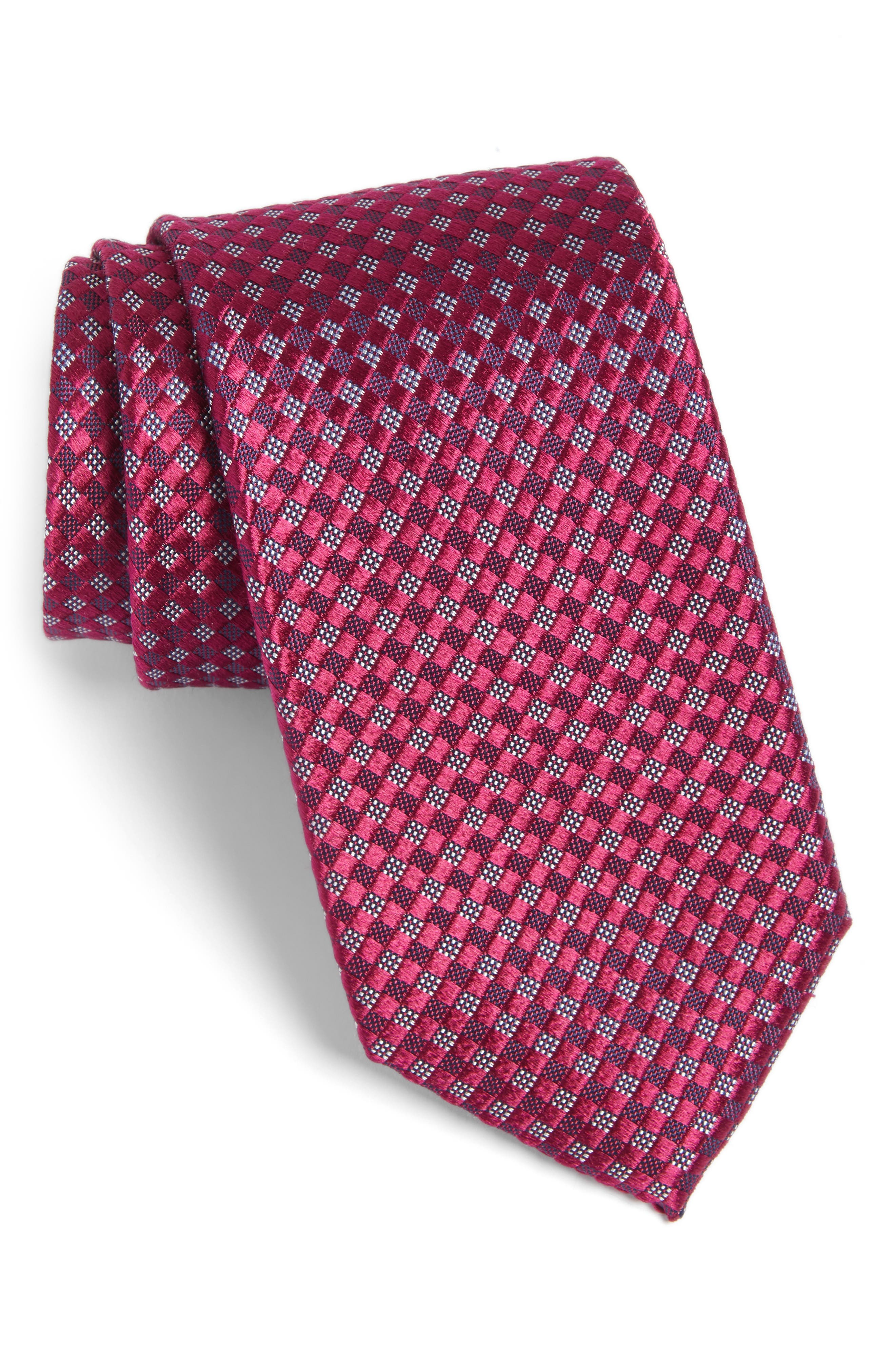 Artesia Check Silk Tie,                             Main thumbnail 11, color,