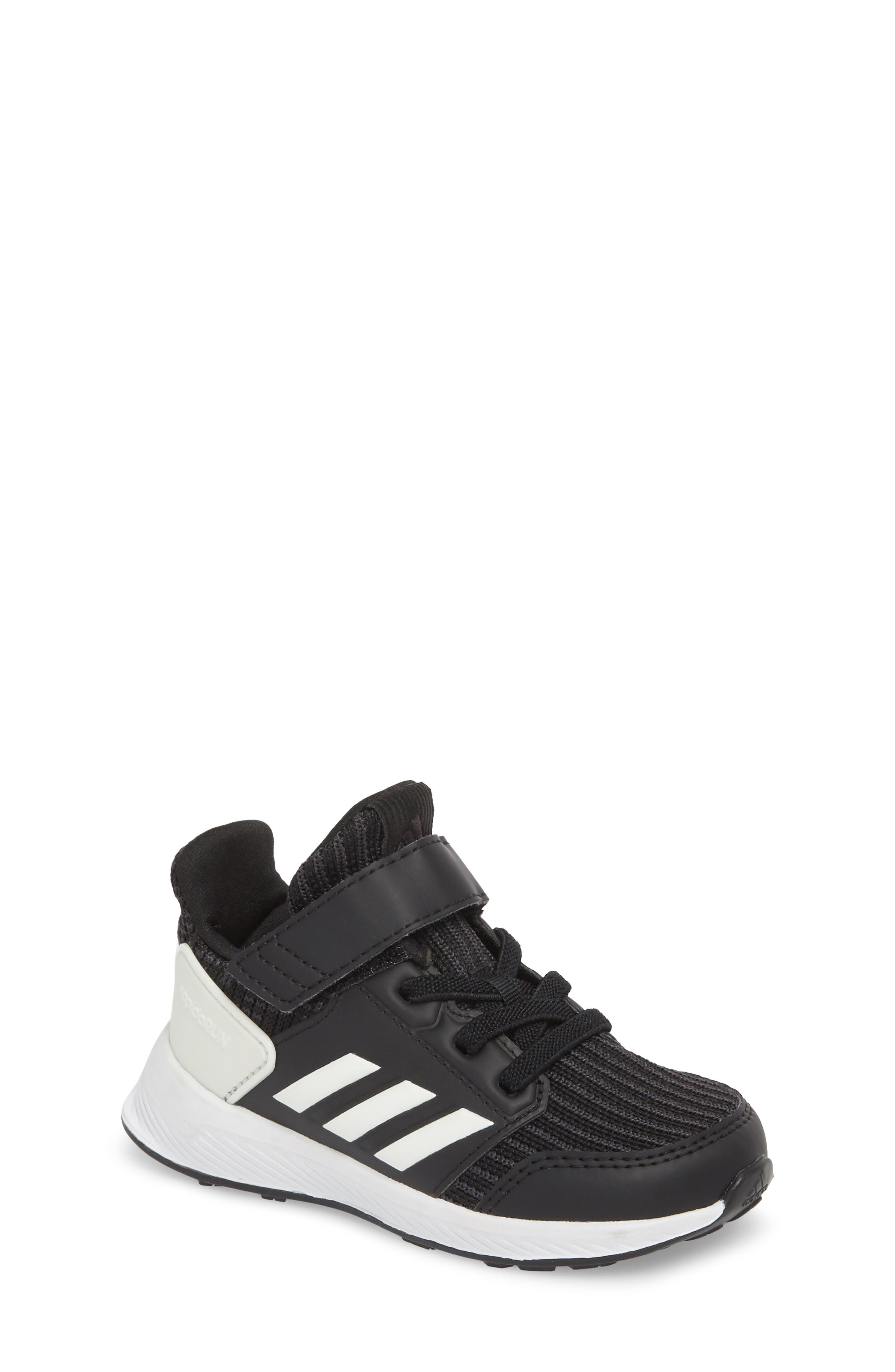 RapidaRun Knit Sneaker,                             Main thumbnail 1, color,                             BLACK/ WHITE