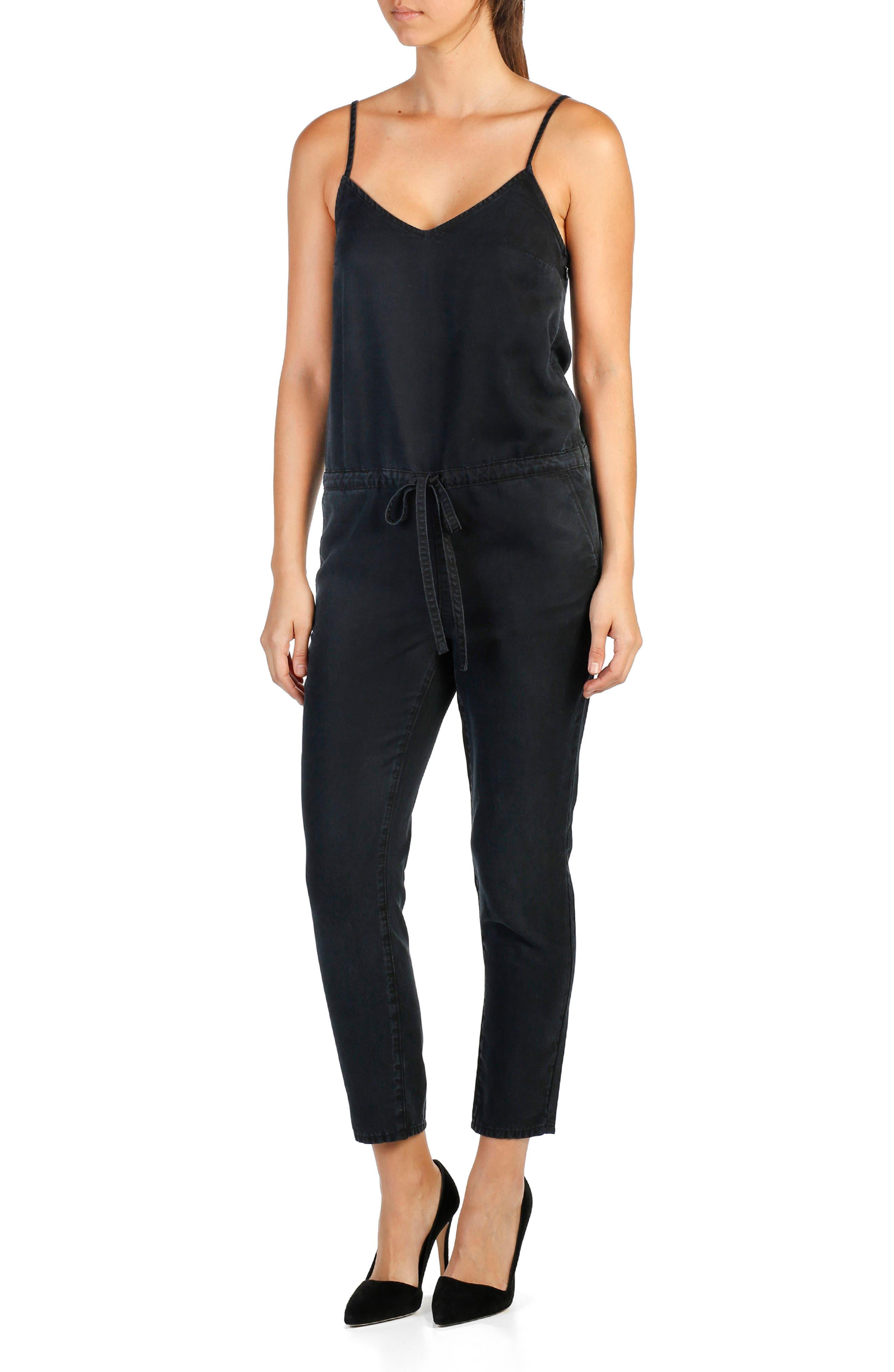 Suki Crop Chambray Jumpsuit,                         Main,                         color, 001