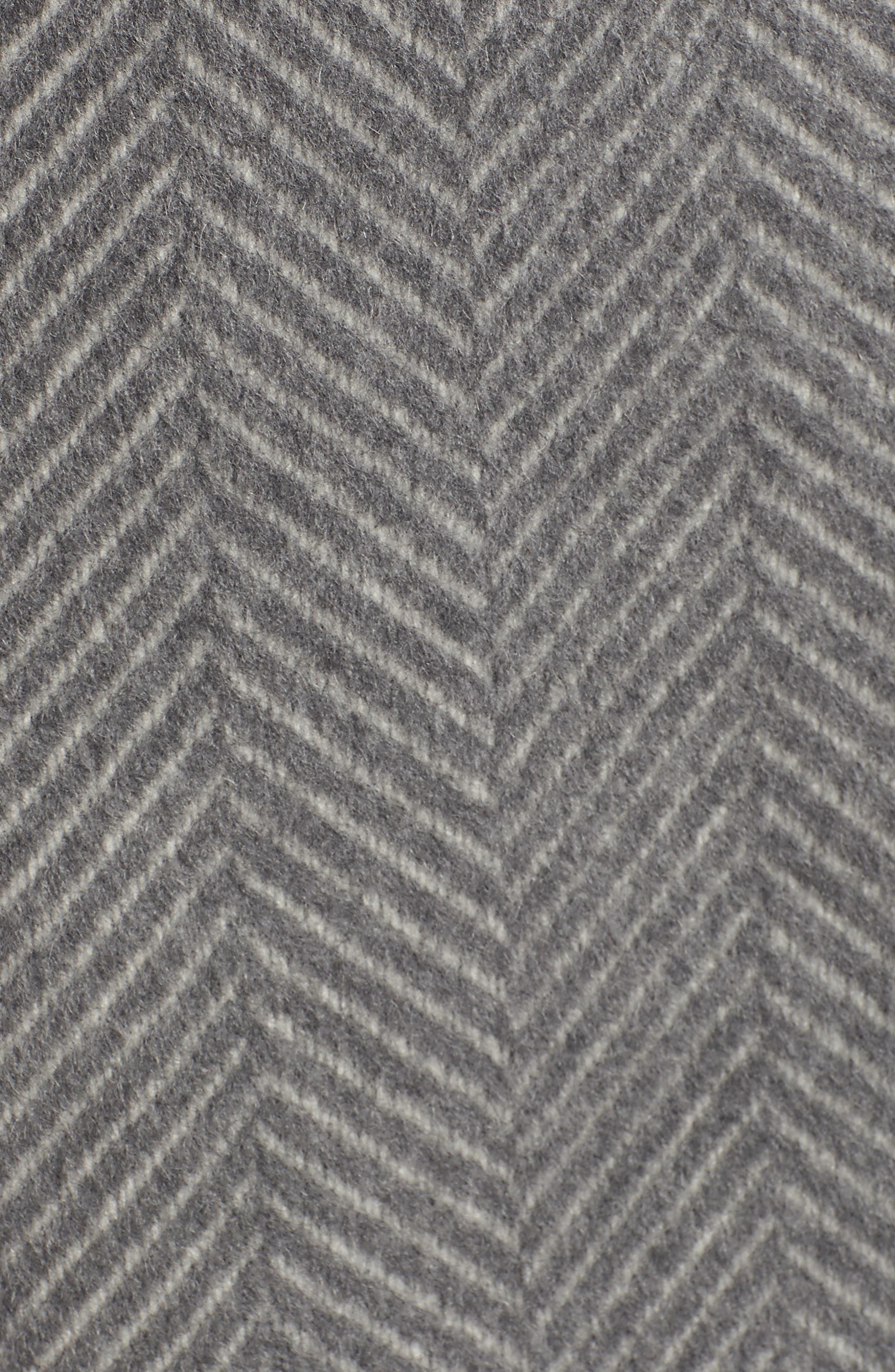 Chevron Coat,                             Alternate thumbnail 7, color,                             GREY