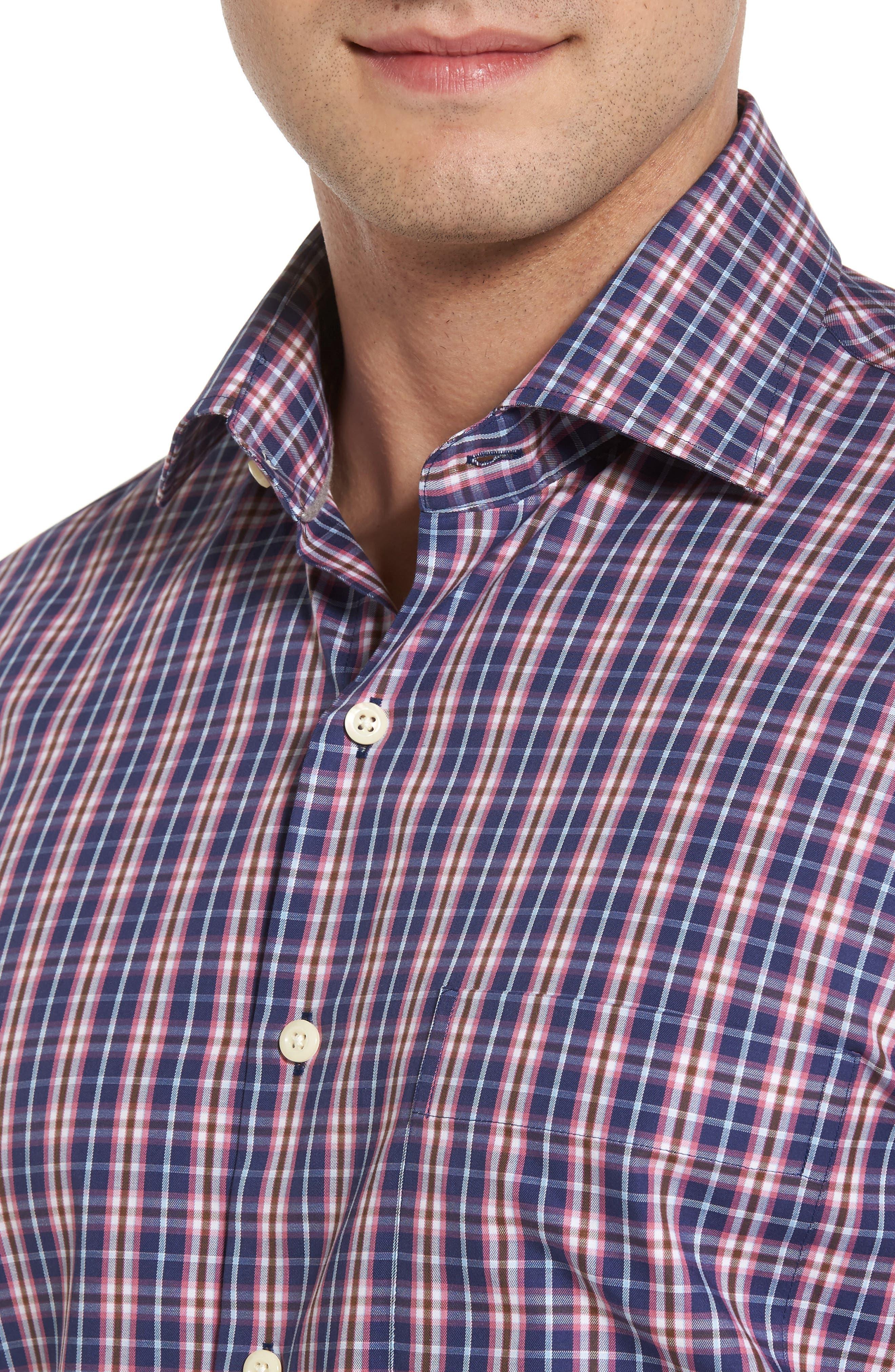 Mitchell Plaid Sport Shirt,                             Alternate thumbnail 4, color,                             420