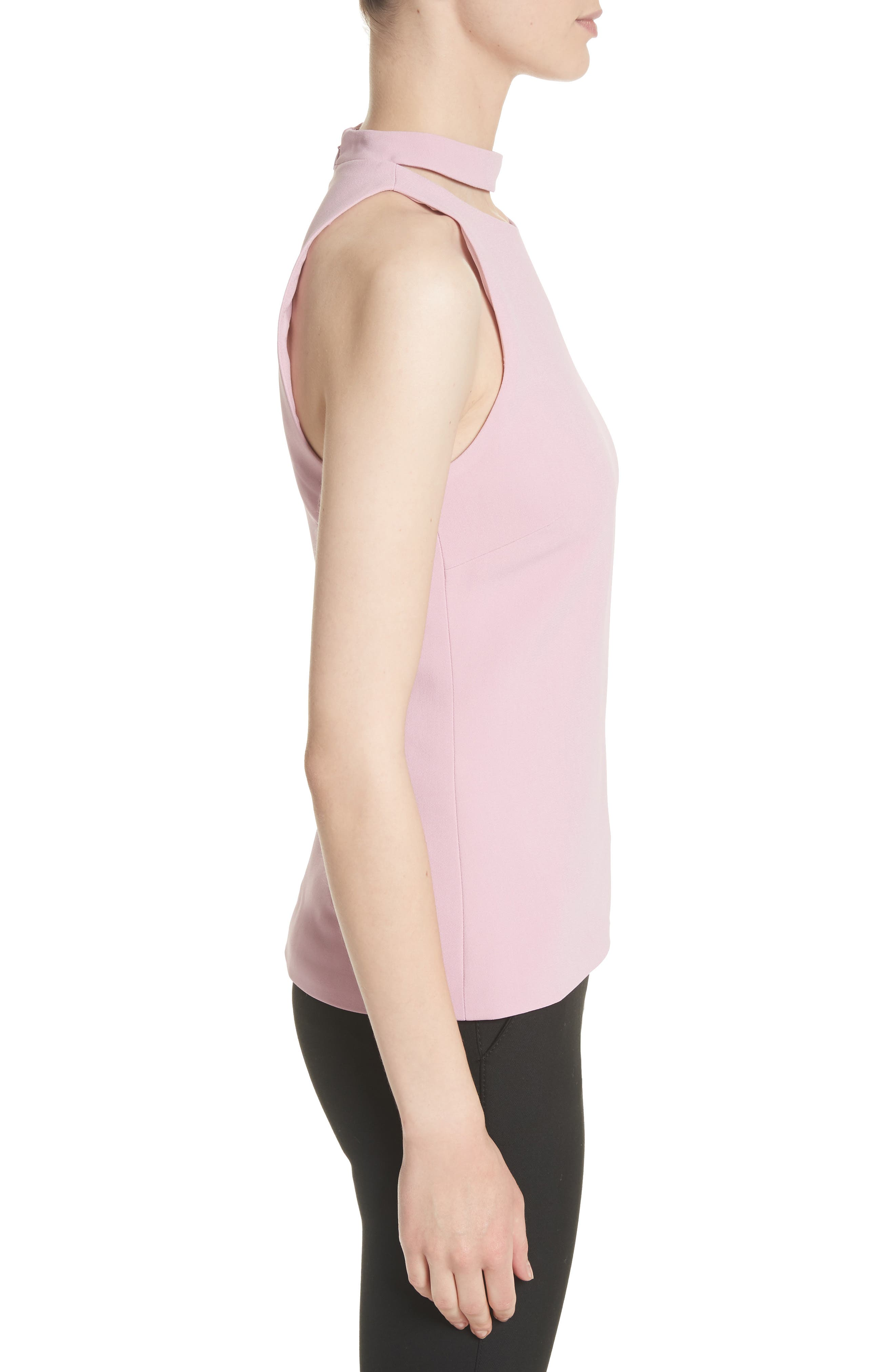 Stretch Cady Choker Top,                             Alternate thumbnail 3, color,                             663