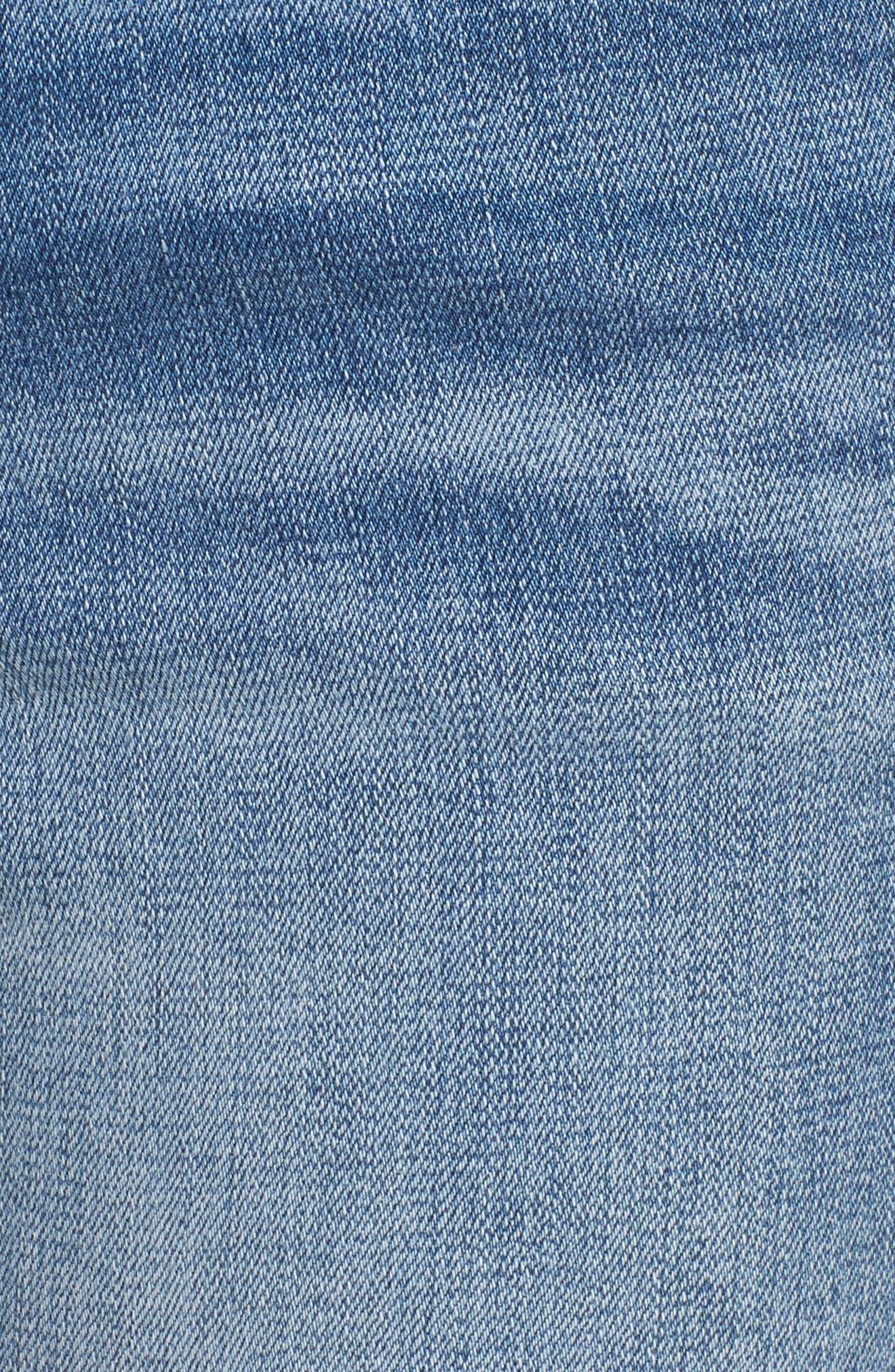 Frayed Hem Ankle Jeans,                             Alternate thumbnail 5, color,                             EDEN