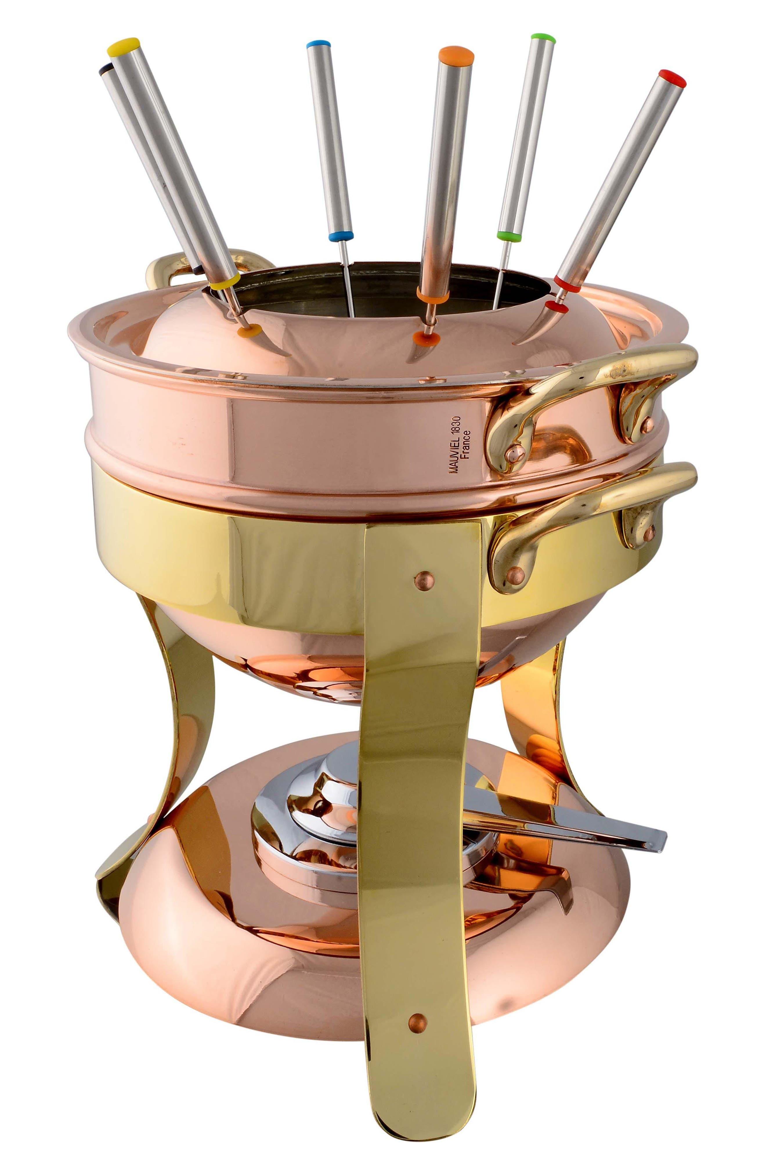 M'tradition Copper Fondue Set,                             Main thumbnail 1, color,                             COPPER
