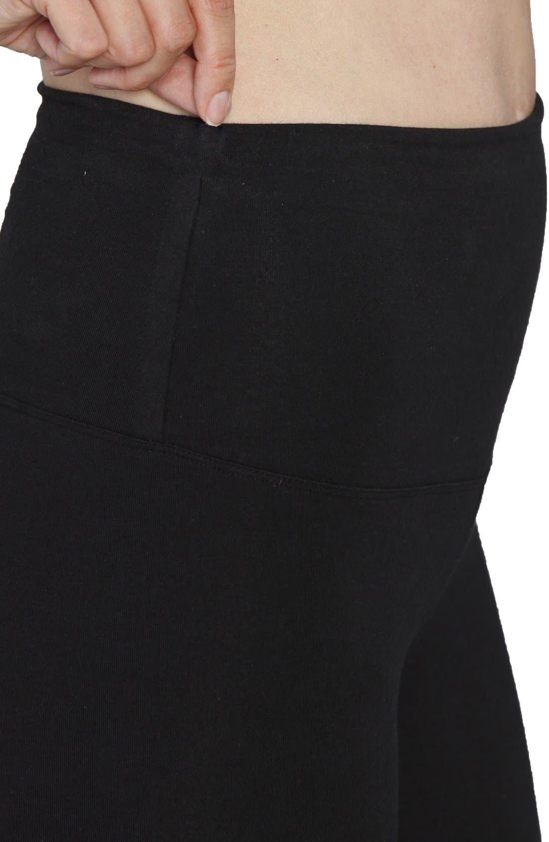 'Tummy Tight' Postpartum Leggings,                             Alternate thumbnail 3, color,                             BLACK