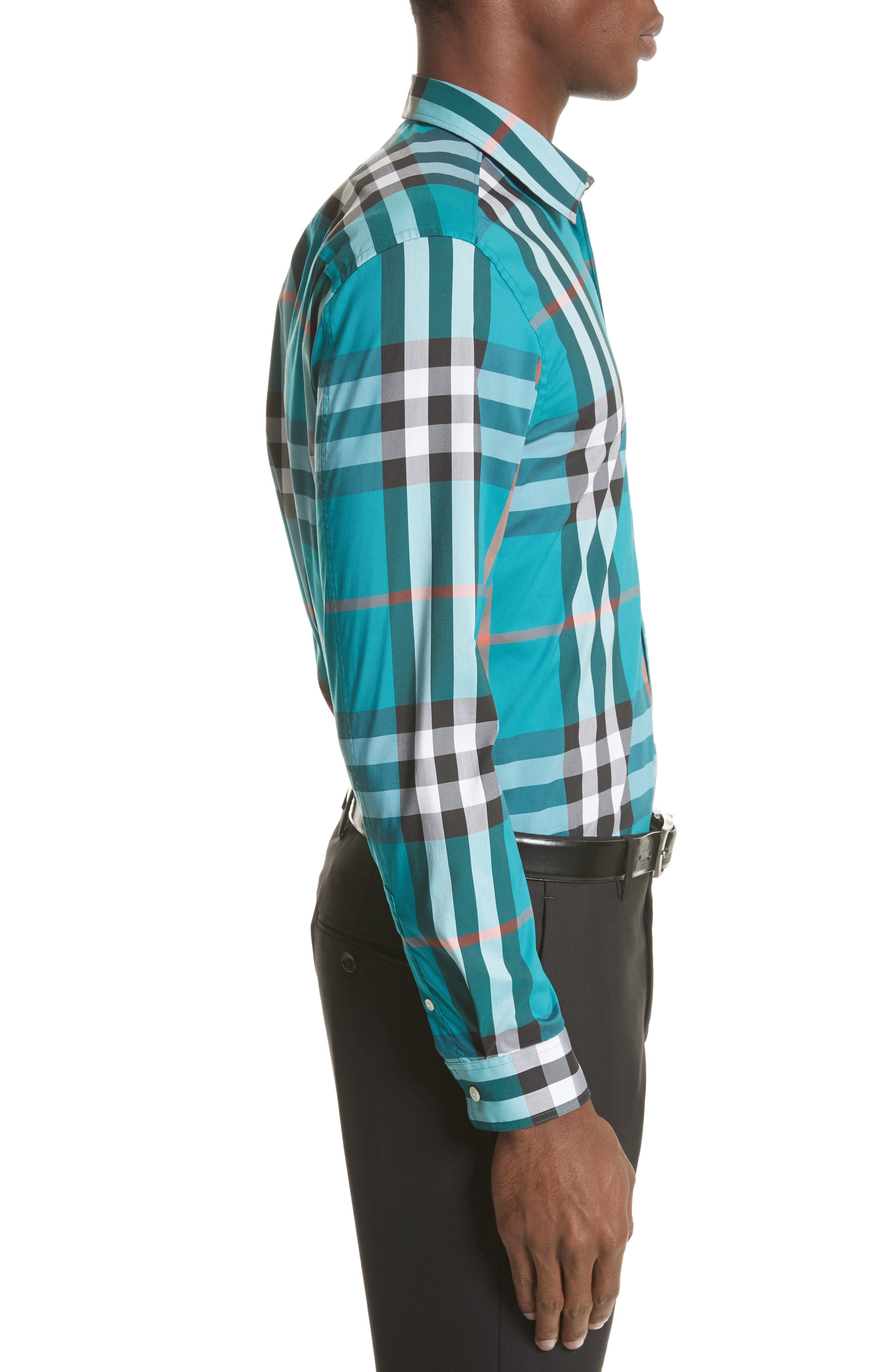 Nelson Check Sport Shirt,                             Alternate thumbnail 54, color,