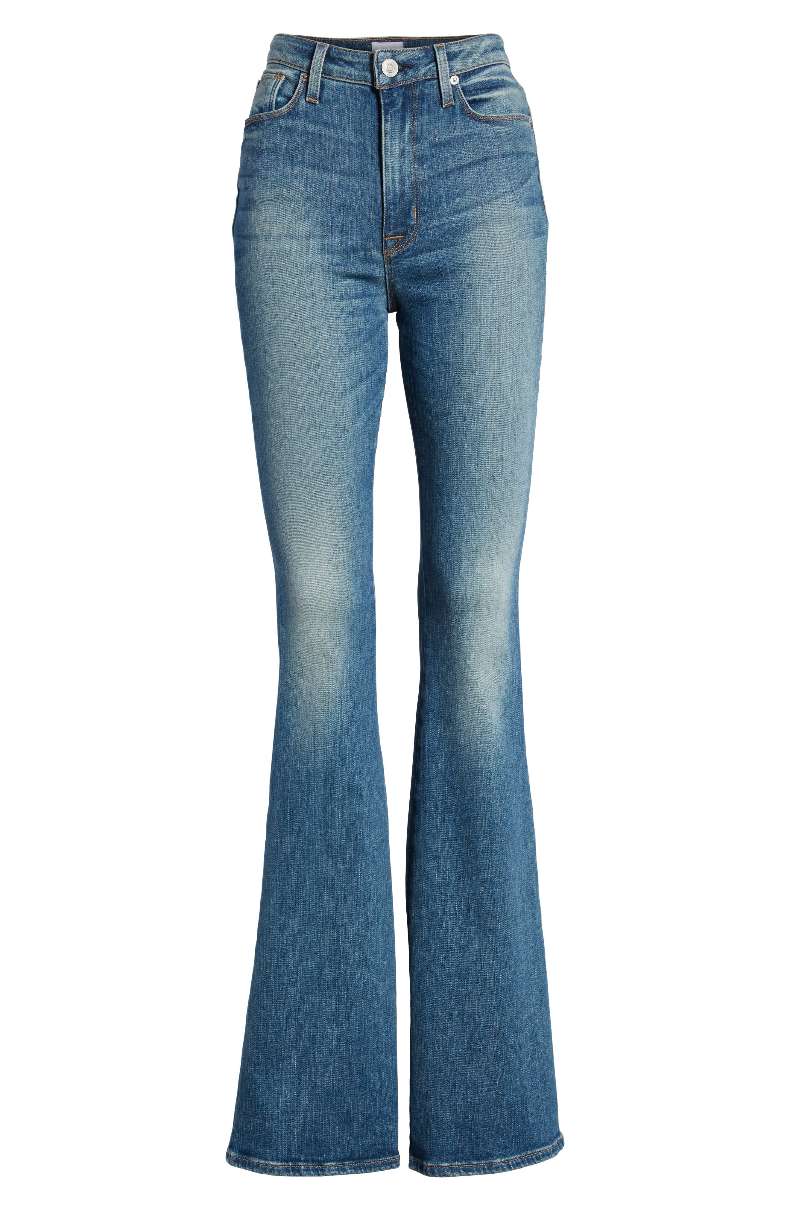 Holly High Waist Flare Jeans,                             Alternate thumbnail 7, color,                             FIRST DATE