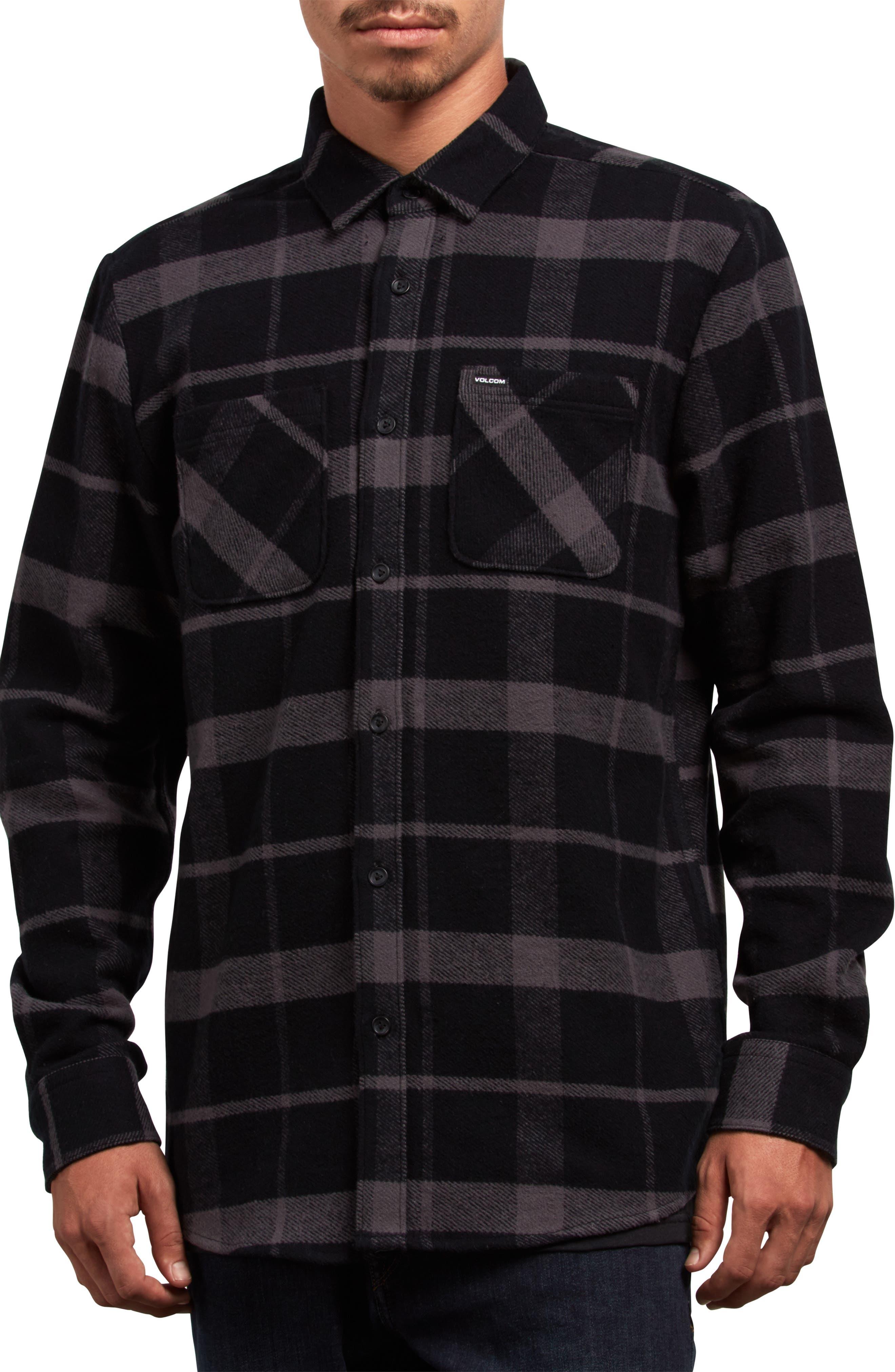 Shader Flannel Shirt,                             Main thumbnail 1, color,                             001
