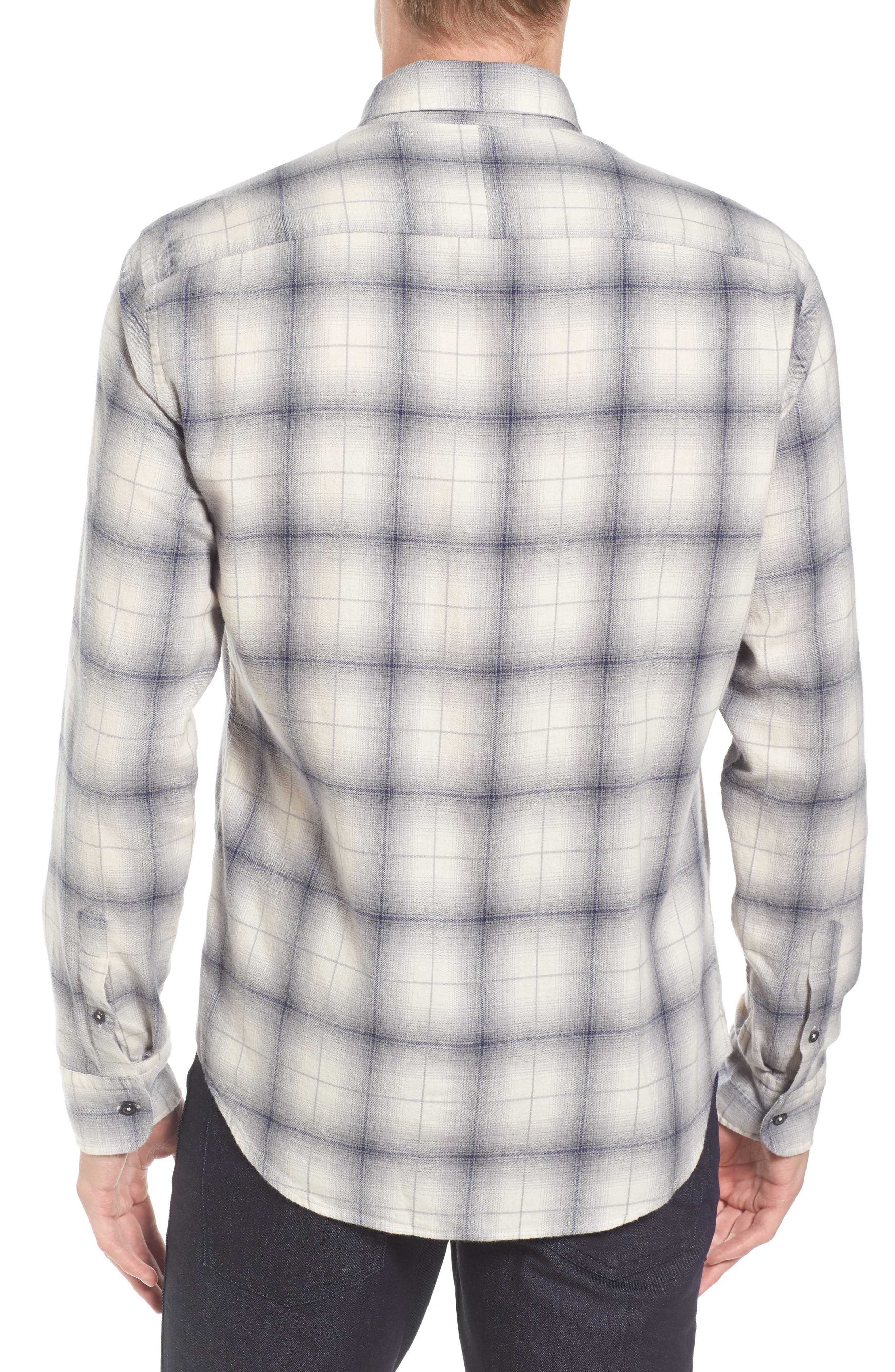 Kirby Slim Fit Plaid Flannel Shirt,                             Alternate thumbnail 2, color,                             070