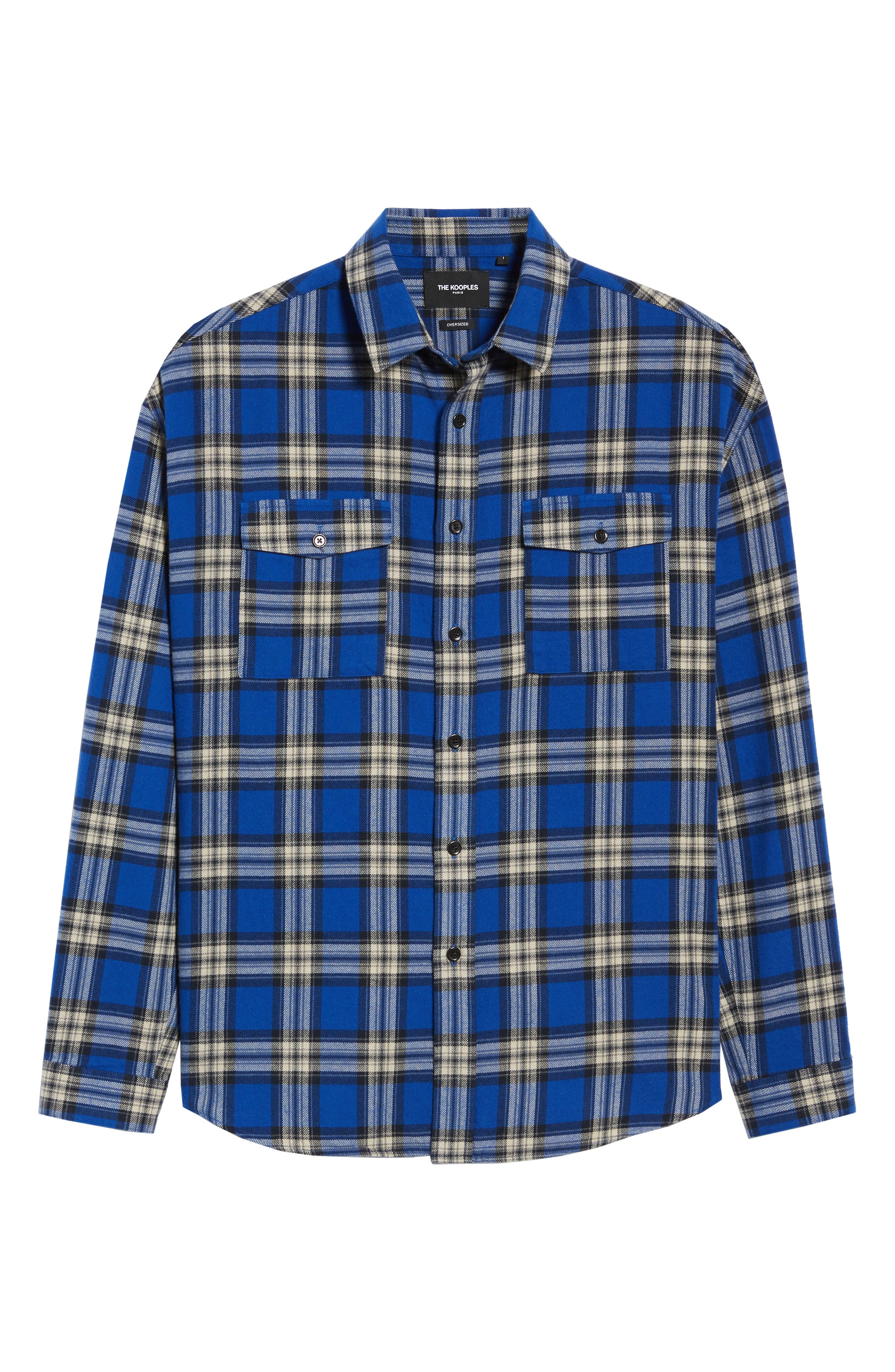 THE KOOPLES,                             Check Flannel Shirt,                             Alternate thumbnail 5, color,                             400